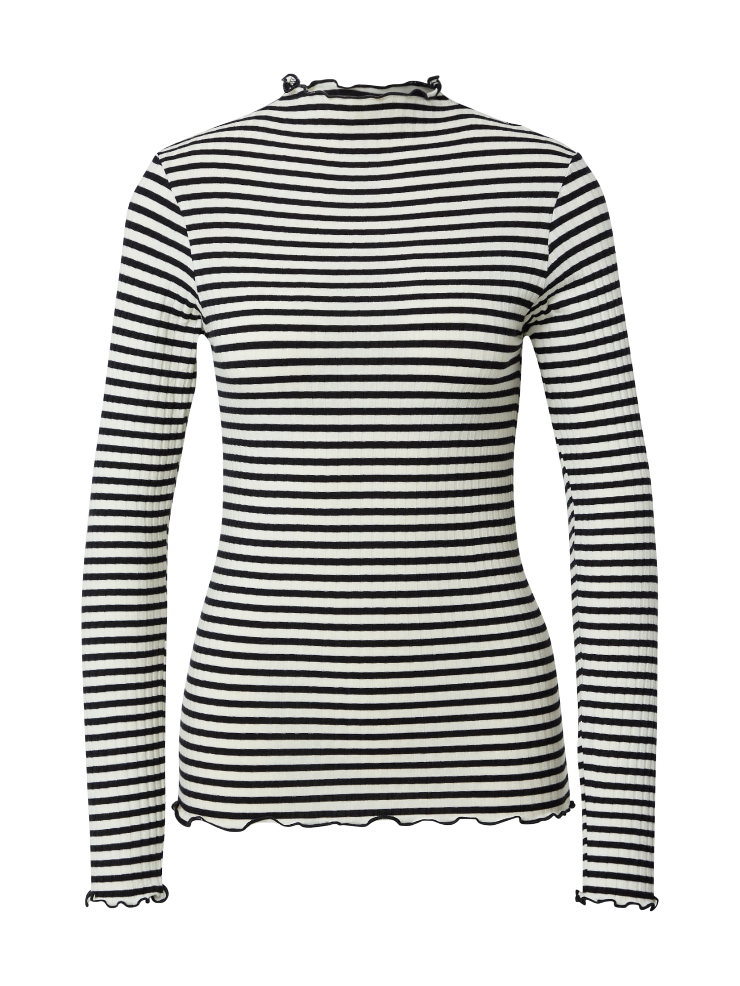 MADS NORGAARD COPENHAGEN Marškinėliai balkšva / juoda