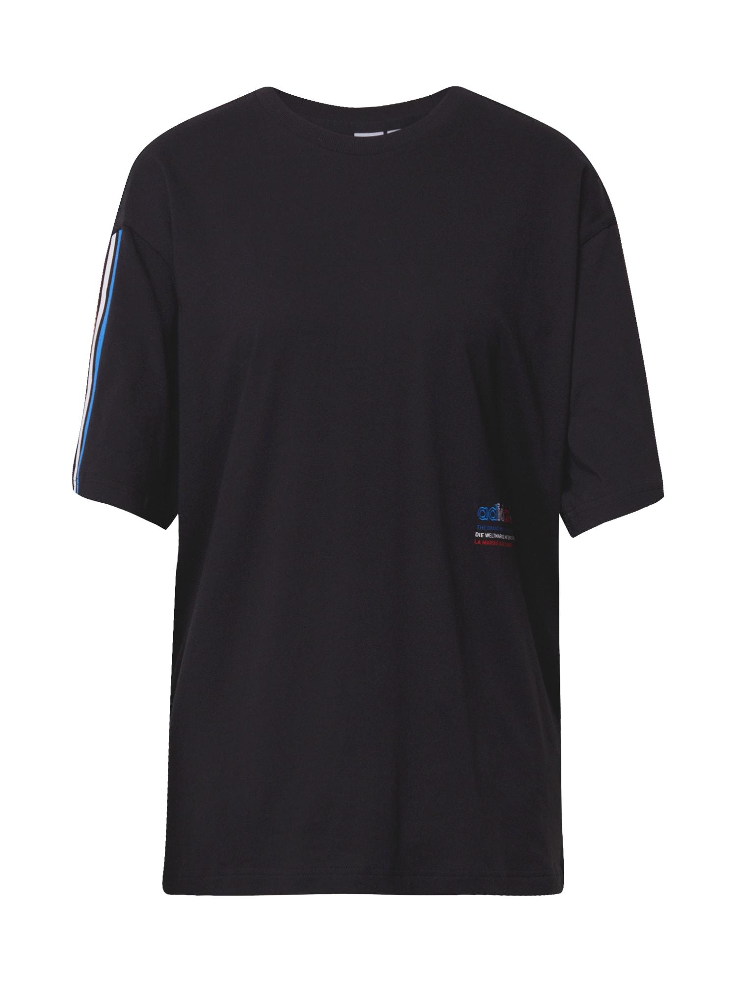 ADIDAS ORIGINALS Marškinėliai juoda / mėlyna / balta / raudona