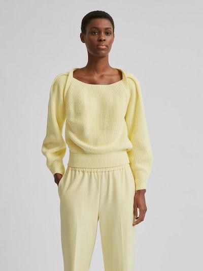 Selected Femme Gry Pullover mit eckigem Ausschnitt und Puffärmeln