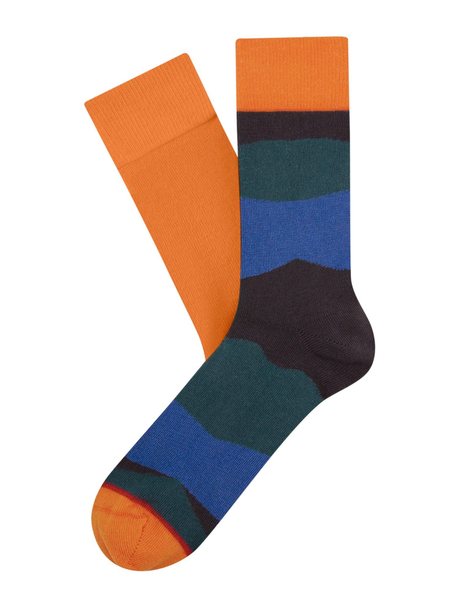 Cheerio Kojinės neoninė oranžinė / mėlyna / smaragdinė spalva / nakties mėlyna