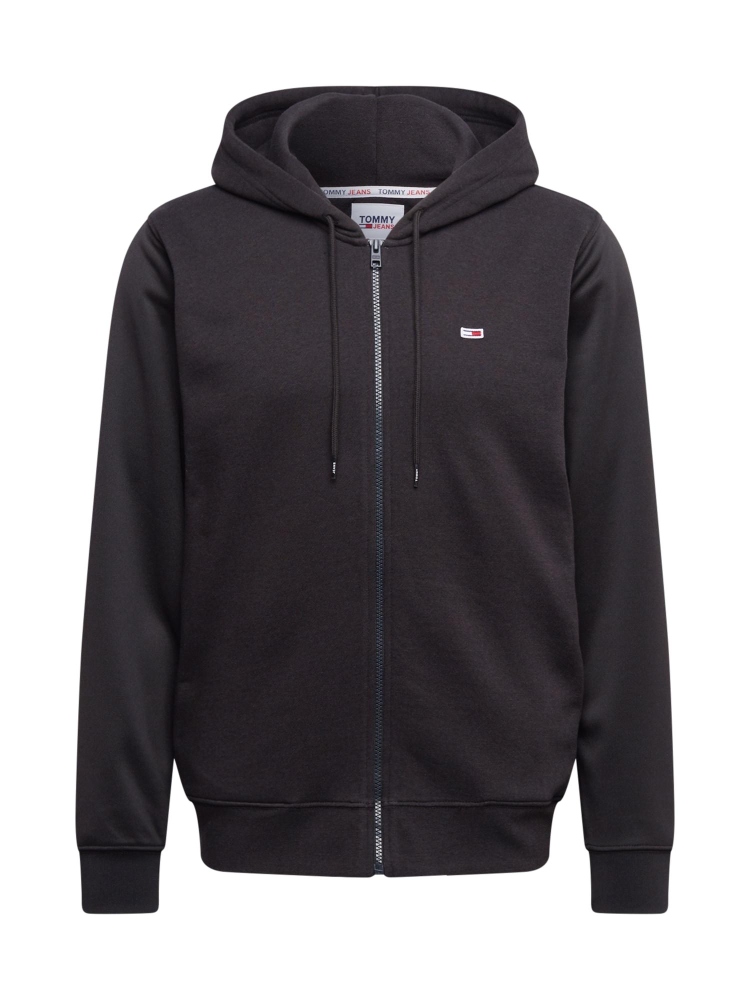 Tommy Jeans Džemperis juoda / balta / šviesiai raudona / purpurinė / alyvinė spalva