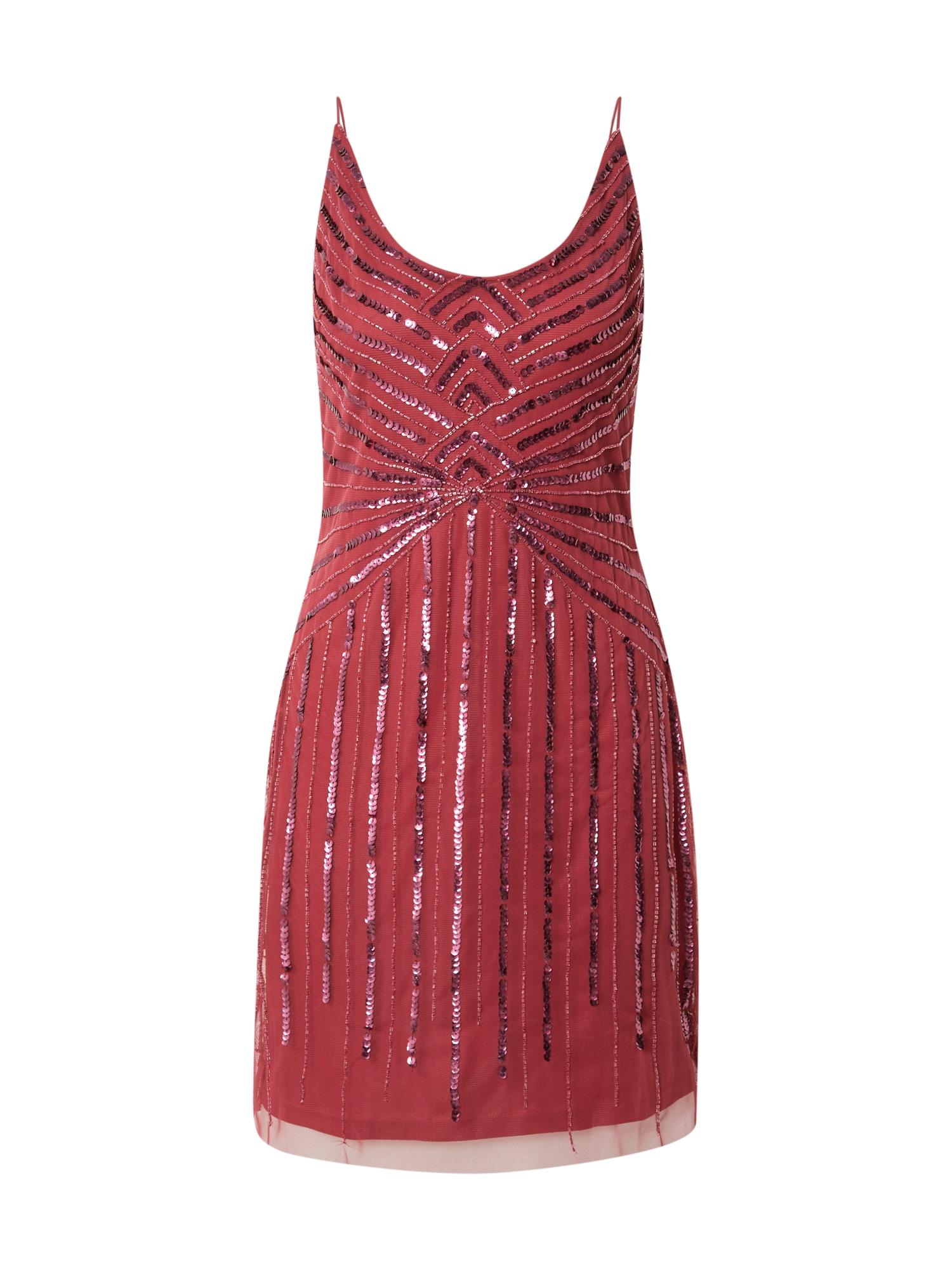 Hailey Logan Kokteilinė suknelė vyno raudona spalva