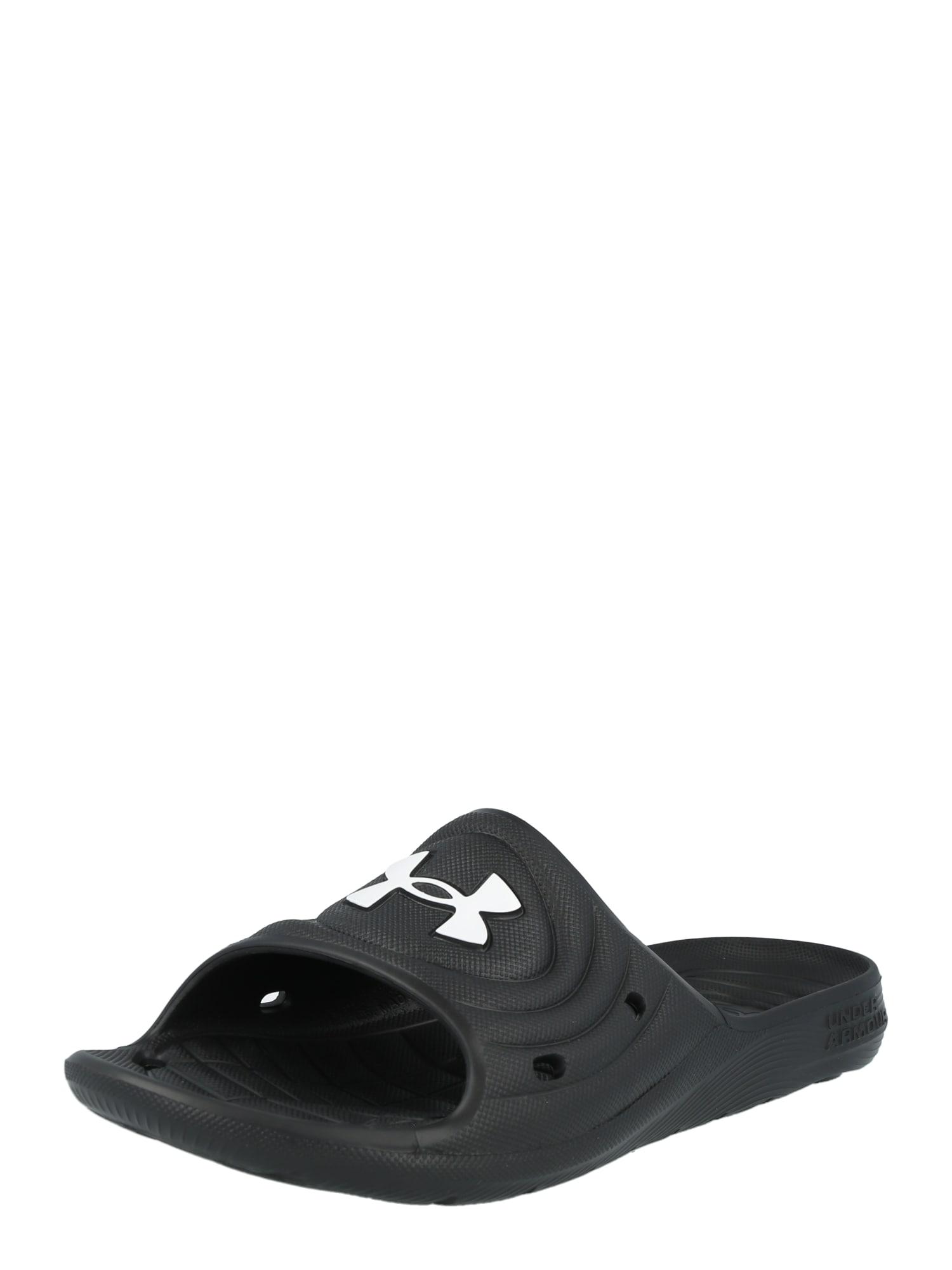 UNDER ARMOUR Sandalai / maudymosi batai juoda / balta