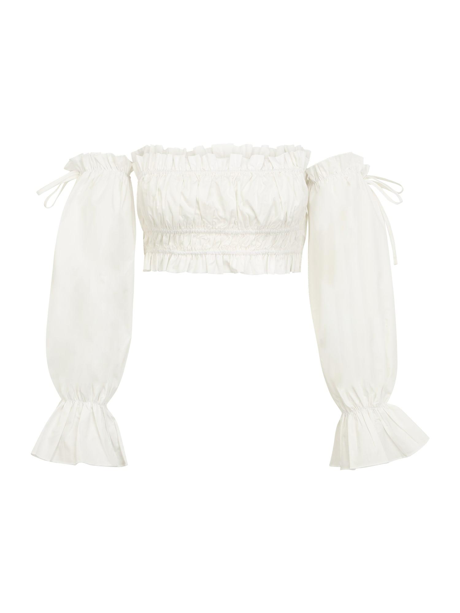 Missguided Petite Marškinėliai balta