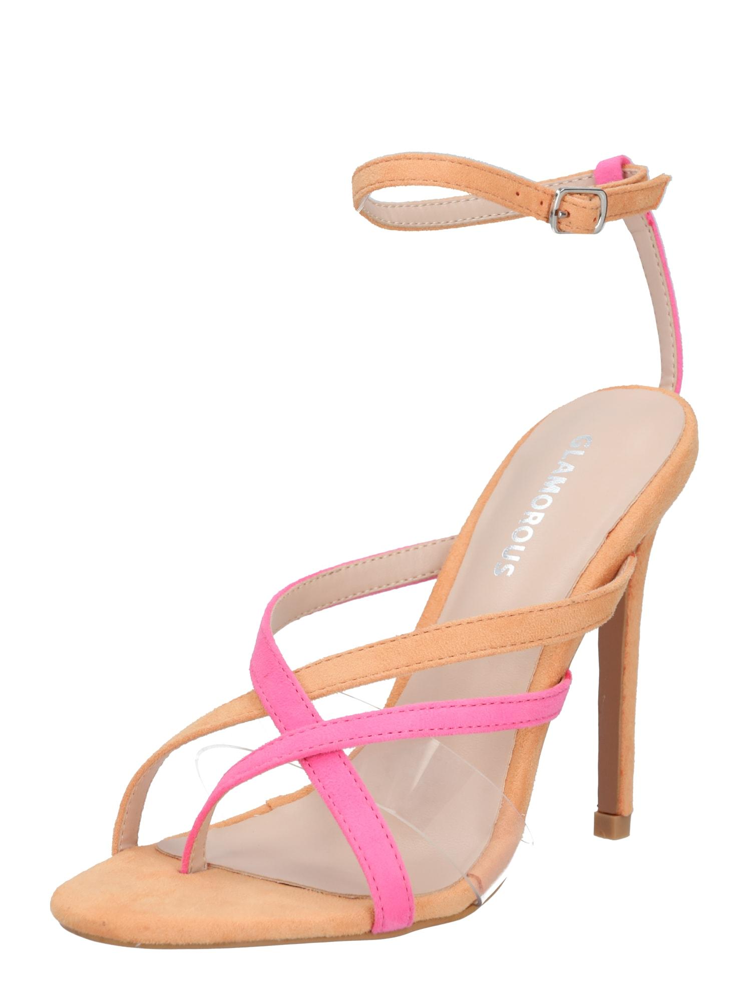 GLAMOROUS Páskové sandály 'FW6250'  oranžová / pink