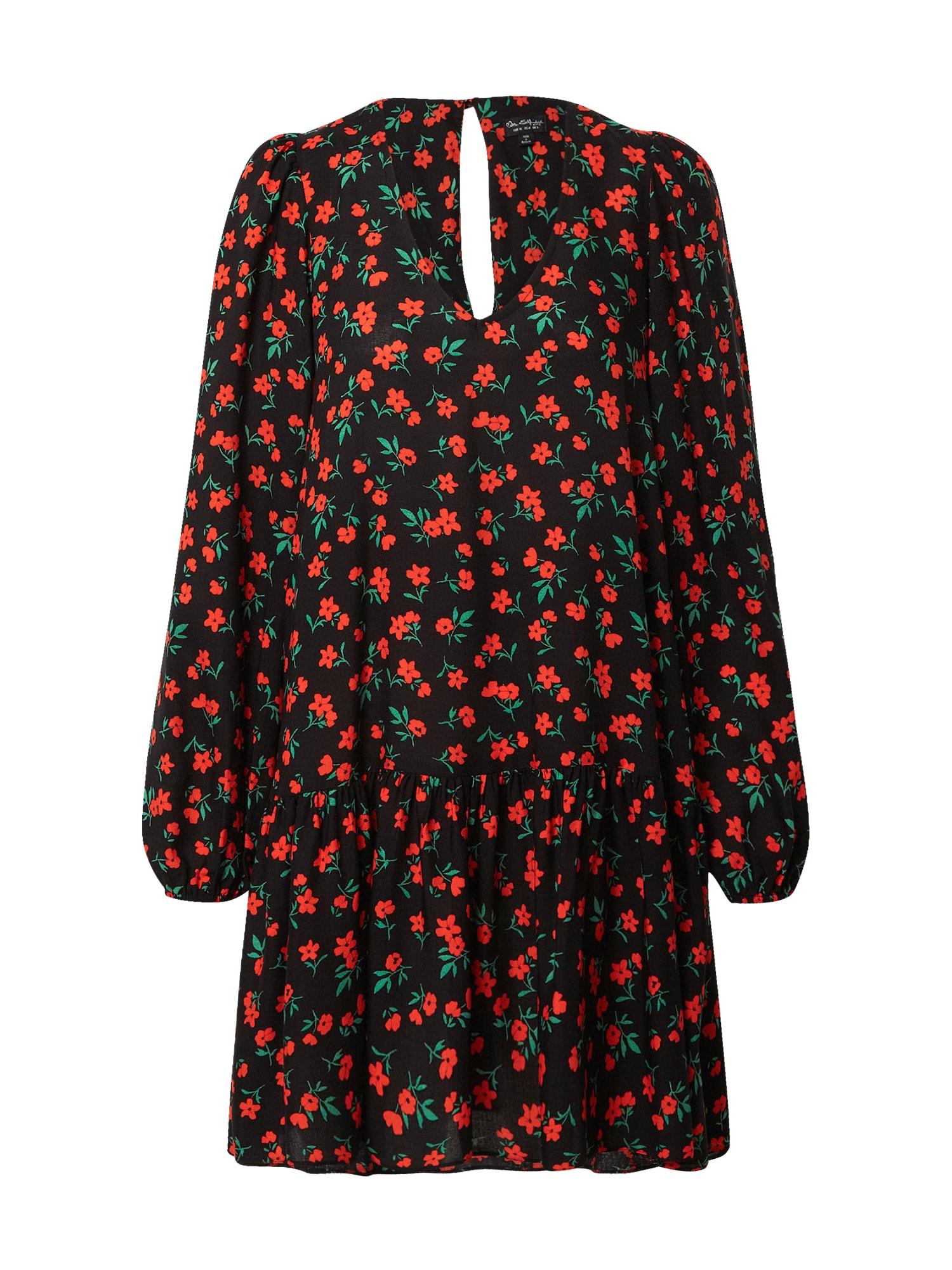 Miss Selfridge Šaty  červená / černá / zelená