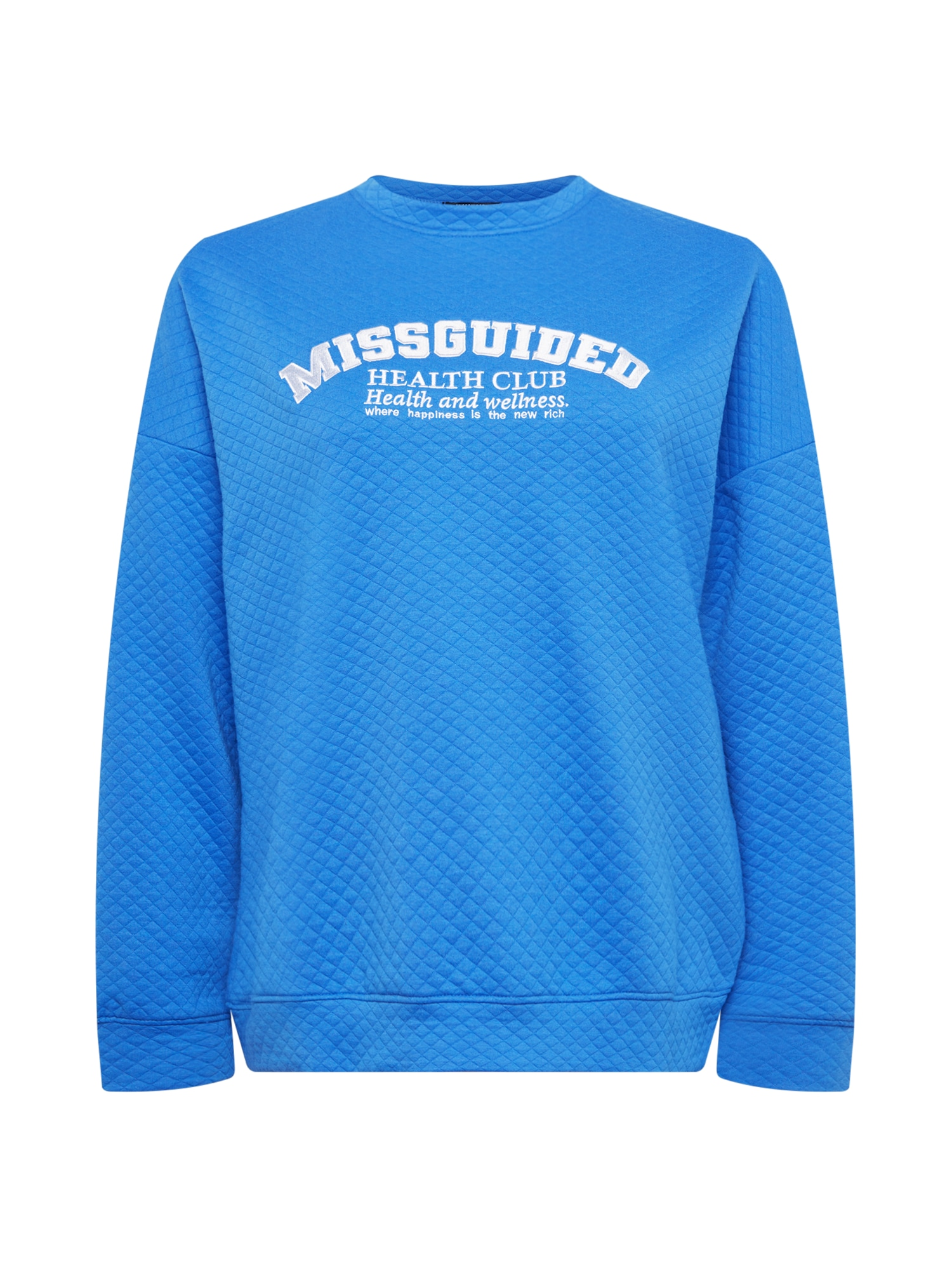 Missguided Plus Megztinis be užsegimo mėlyna / balta