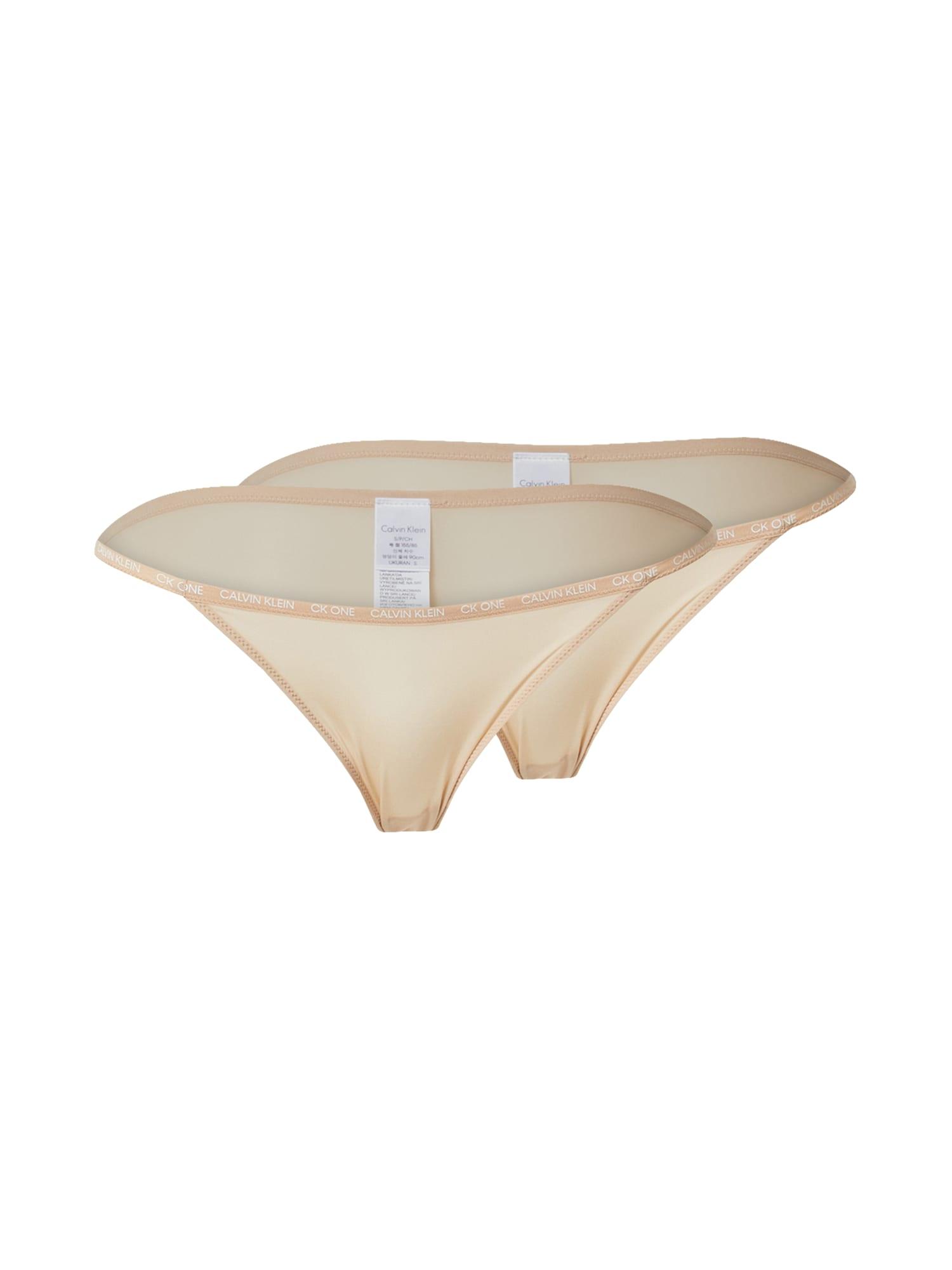 Calvin Klein Underwear Moteriškos kelnaitės kūno spalva