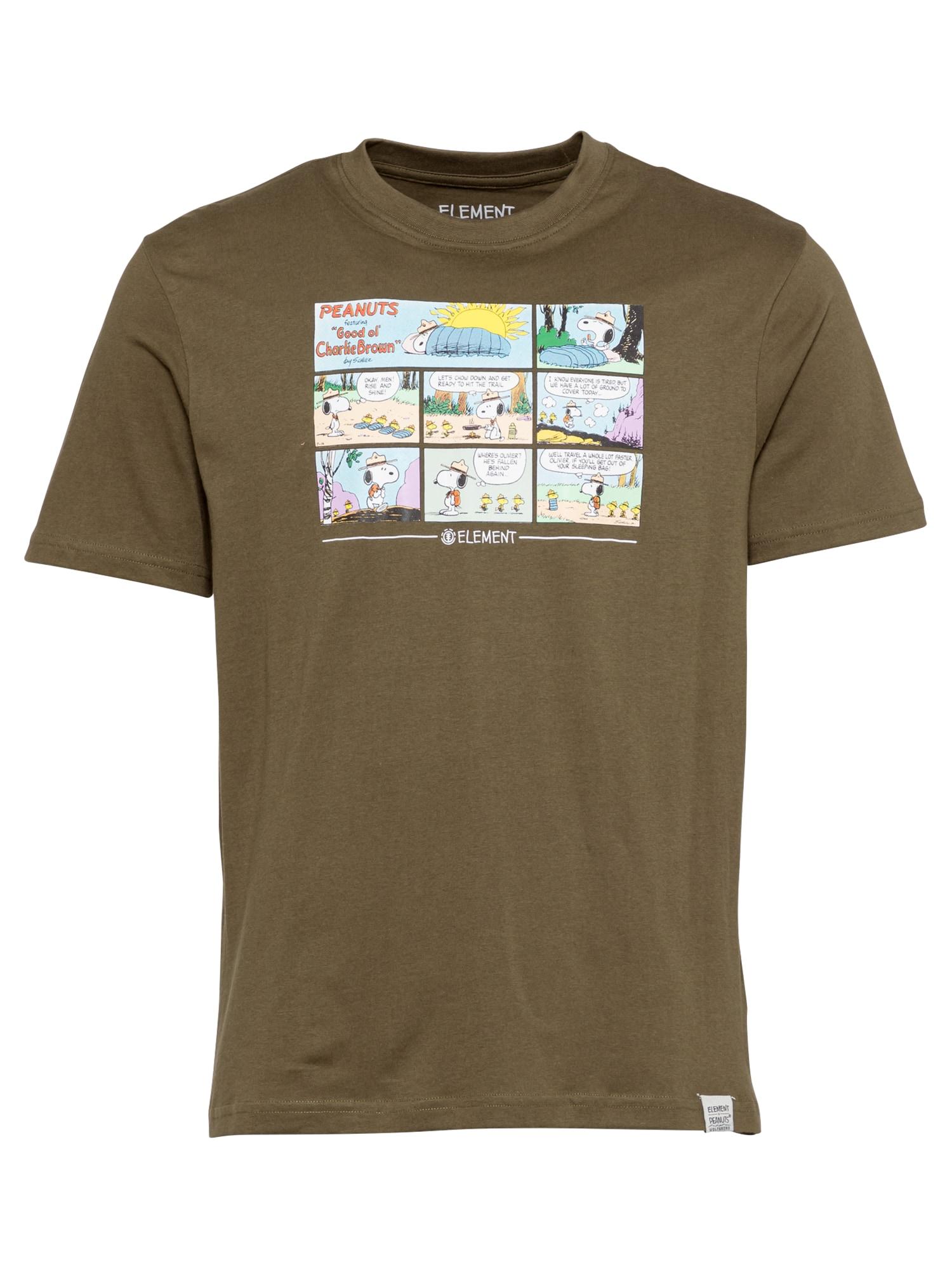 ELEMENT Marškinėliai alyvuogių spalva / mišrios spalvos