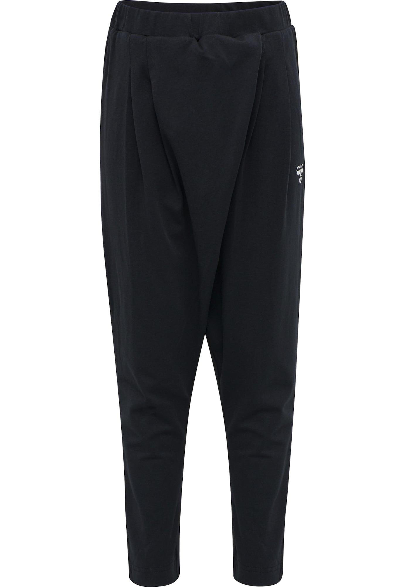 Hummel Sportinės kelnės 'Andrea' juoda / balta