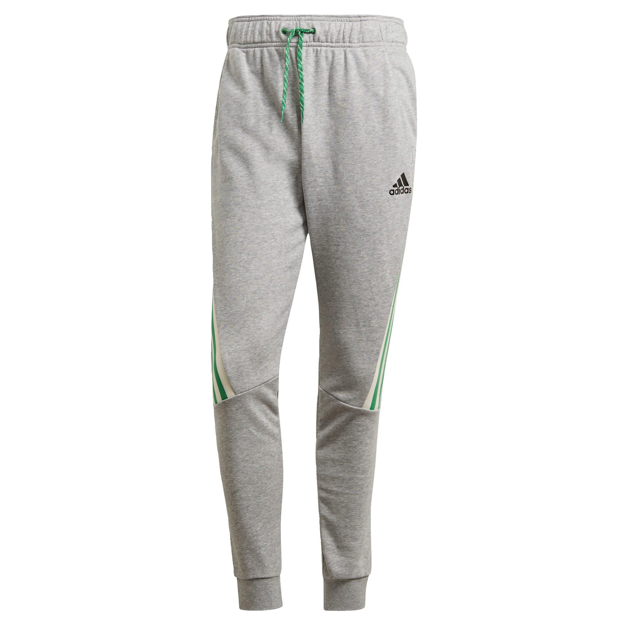 ADIDAS PERFORMANCE Sportinės kelnės margai pilka / šviesiai žalia / balta