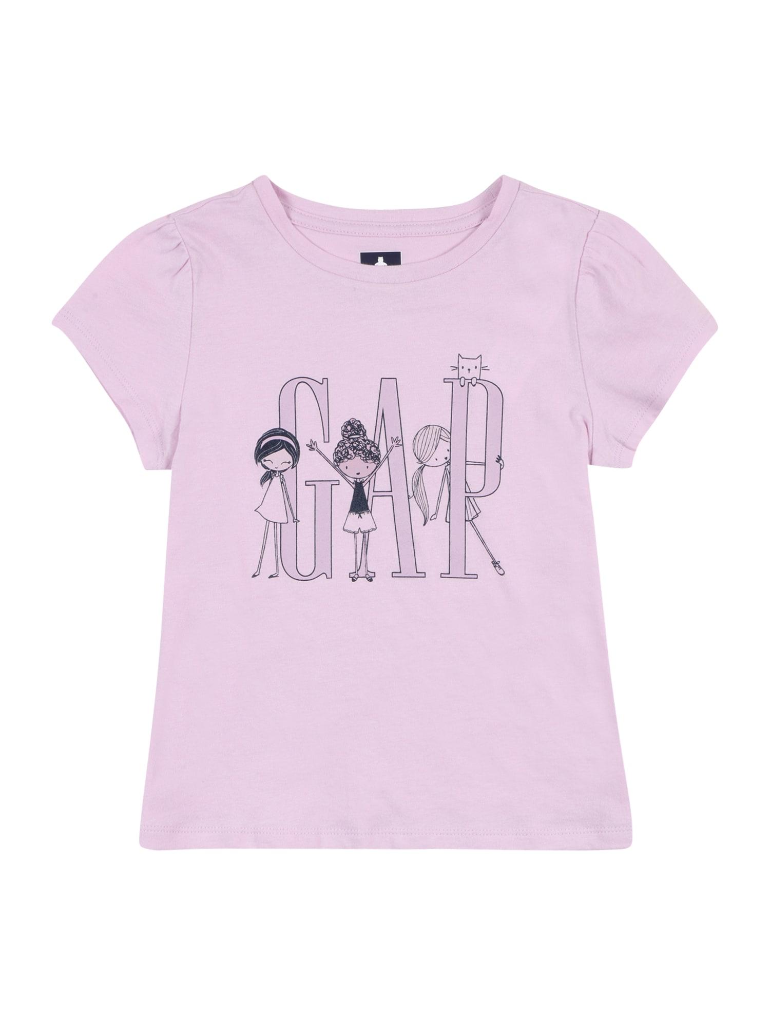 GAP Marškinėliai šviesiai violetinė / antracito