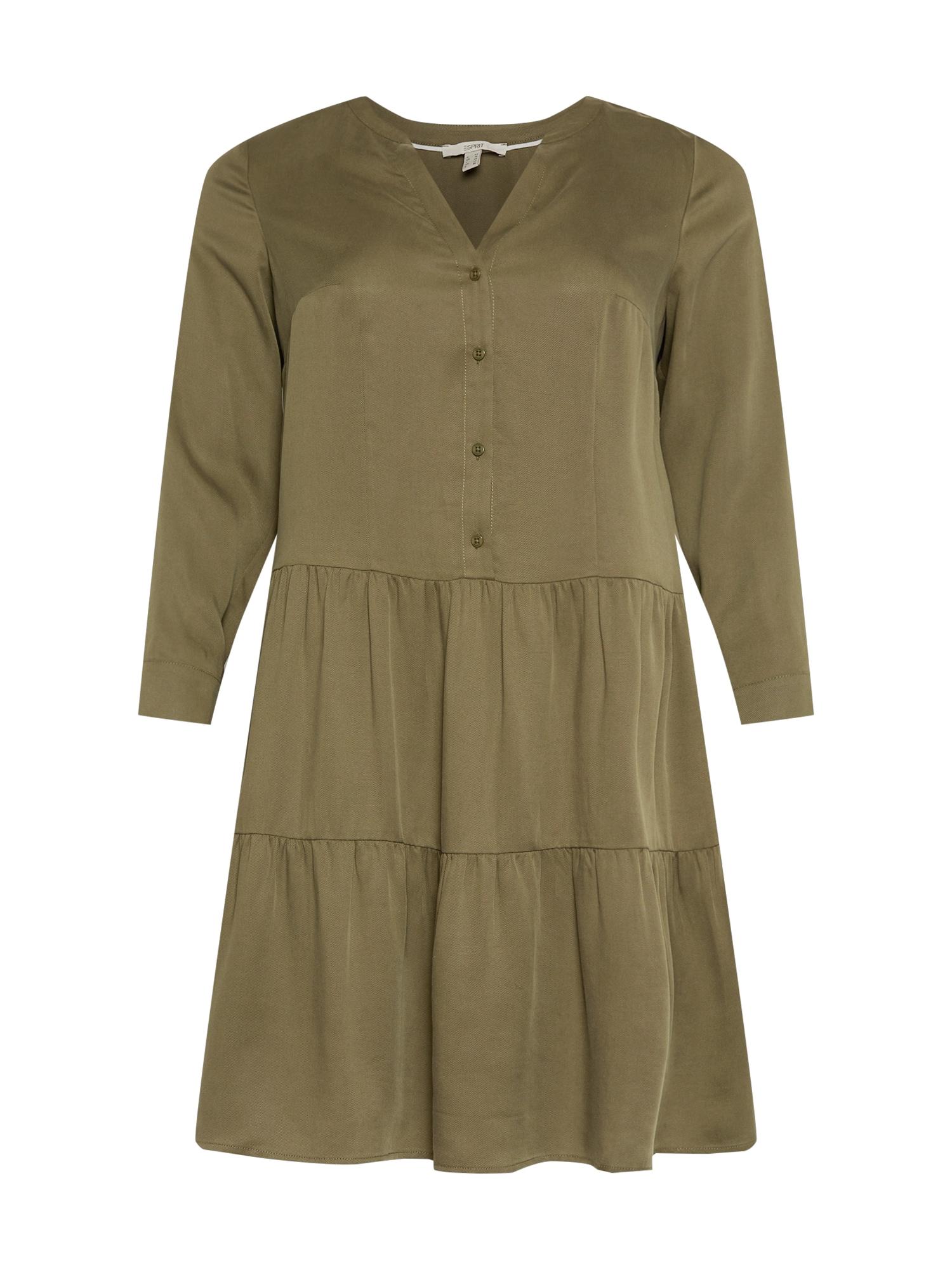 Esprit Curves Palaidinės tipo suknelė rusvai žalia