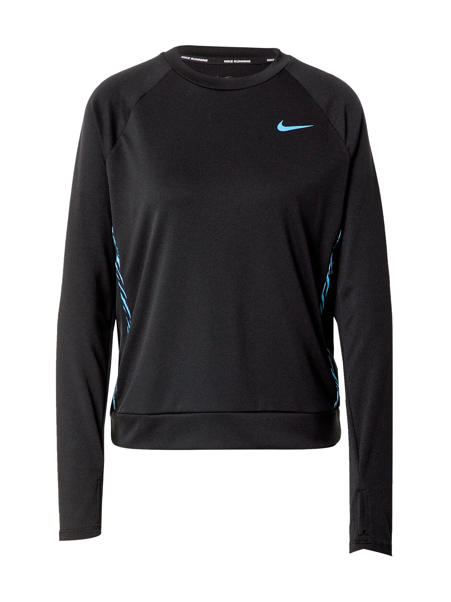 NIKE Sportinio tipo megztinis 'Icon Clash' juoda / vandens spalva