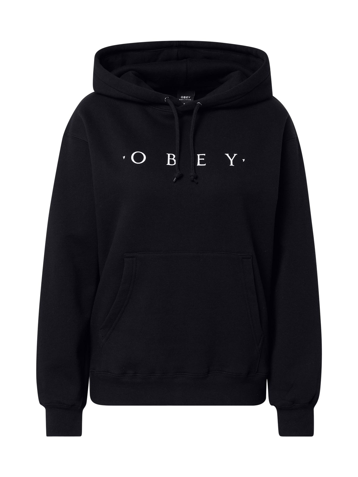 Obey Megztinis be užsegimo juoda / balta