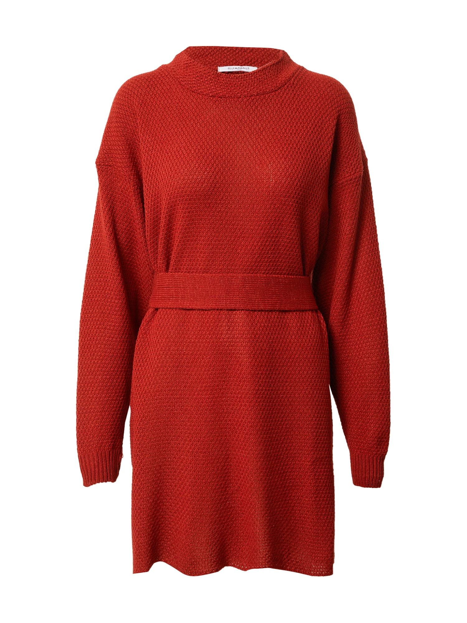 GLAMOROUS Megzta suknelė raudona