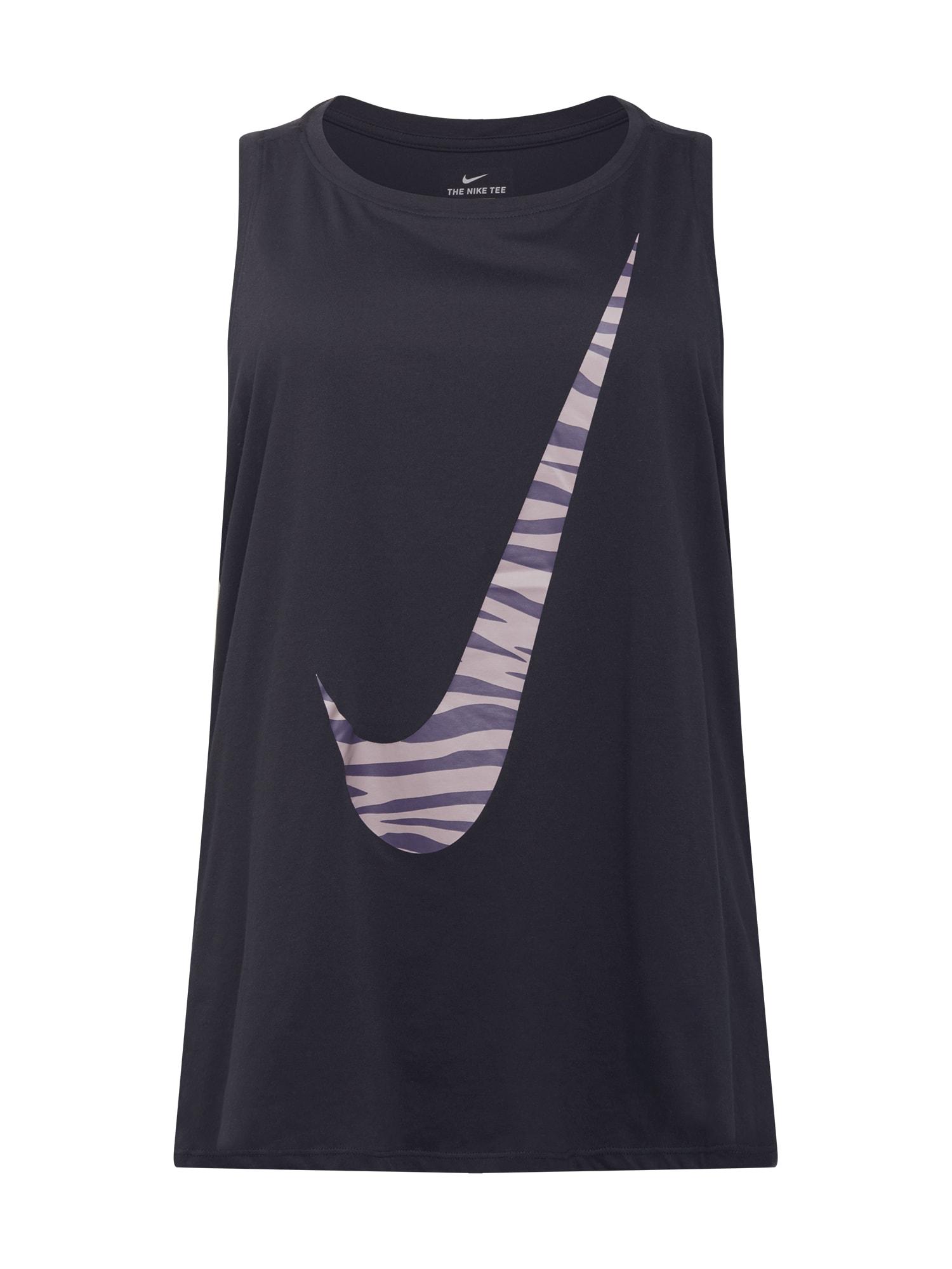 NIKE Sportiniai marškinėliai be rankovių juoda / pilka
