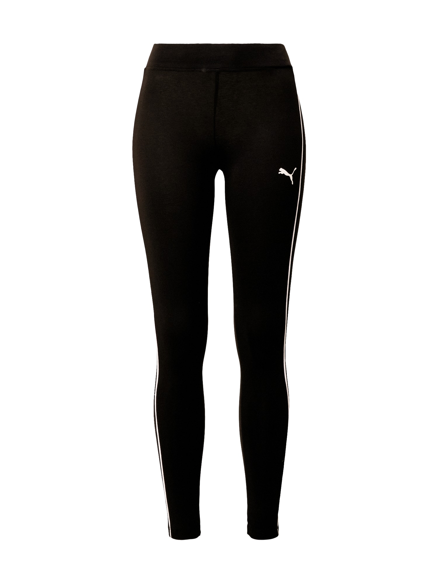 PUMA Sportovní kalhoty 'STYLE'  černá / bílá