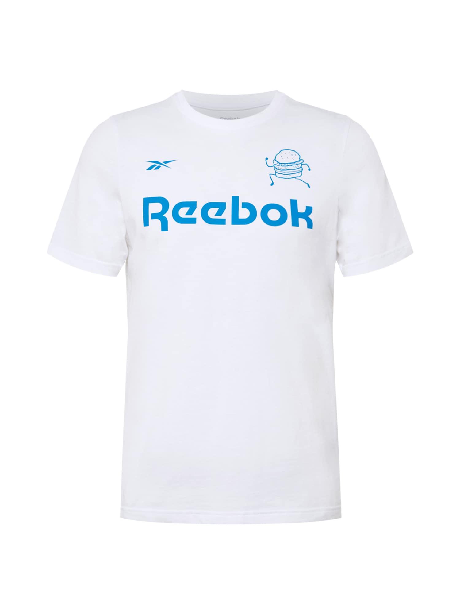 REEBOK Funkční tričko  offwhite / modrá