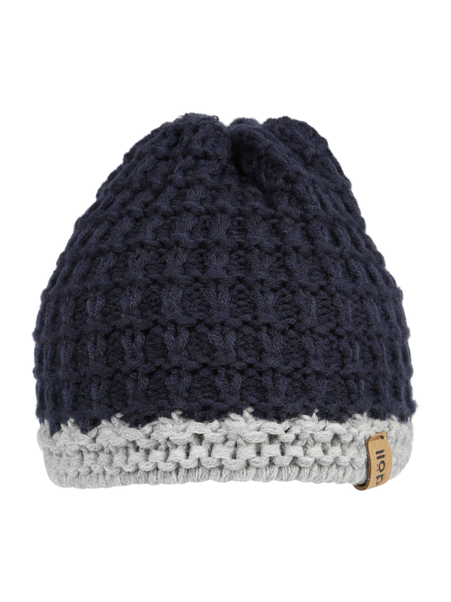 DÖLL Megzta kepurė tamsiai mėlyna / pilka