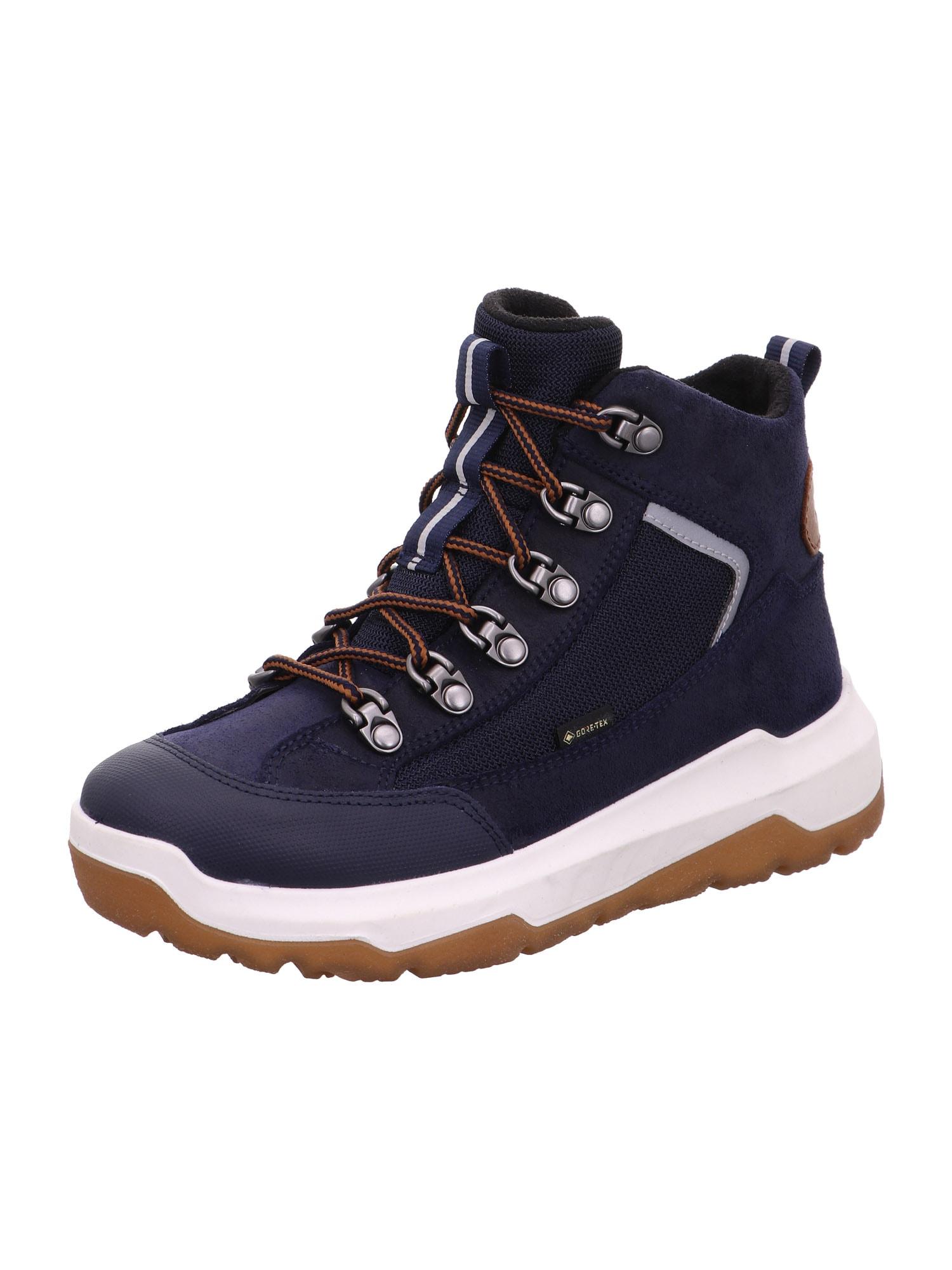 SUPERFIT Auliniai batai su kulniuku 'SPACE' ruda / tamsiai mėlyna / šviesiai pilka