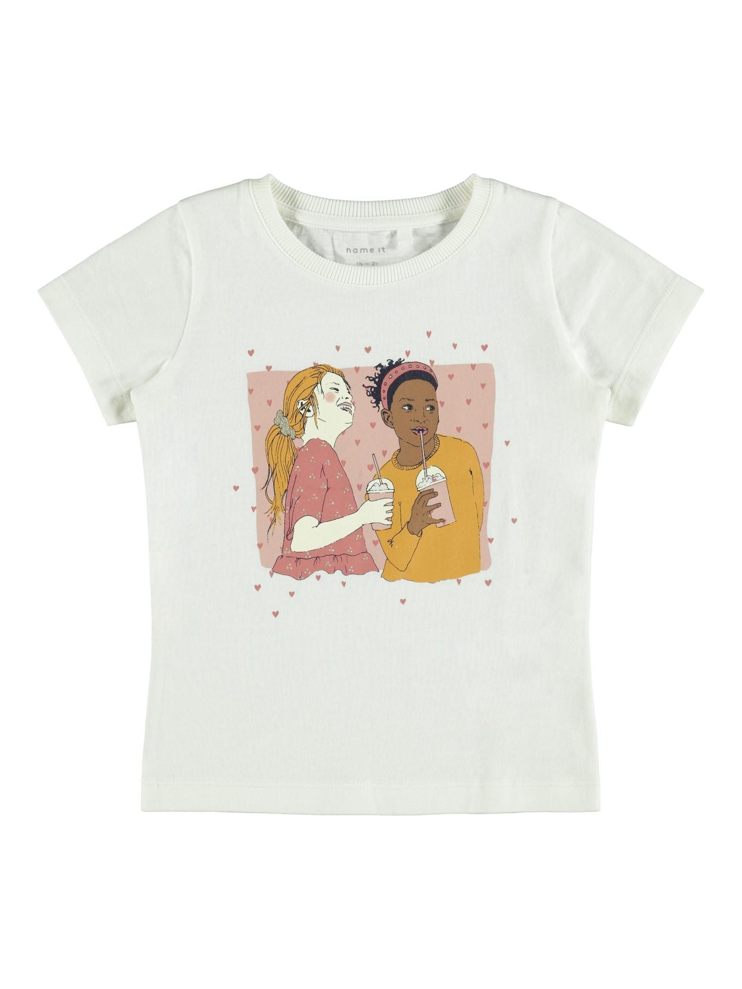 NAME IT Marškinėliai balta / mišrios spalvos