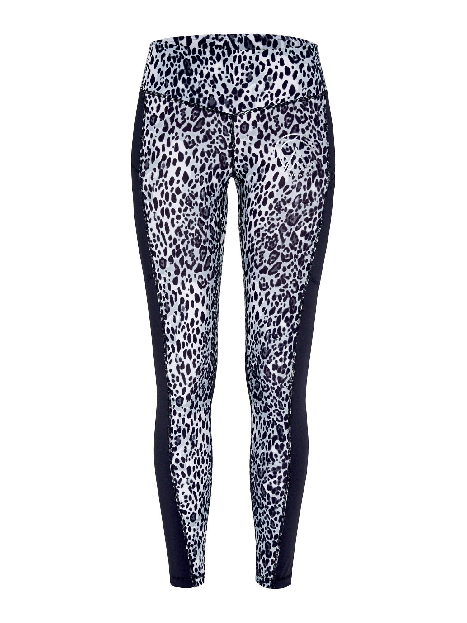 CHIEMSEE Sportovní kalhoty 'Dania Pier'  černá / světle šedá
