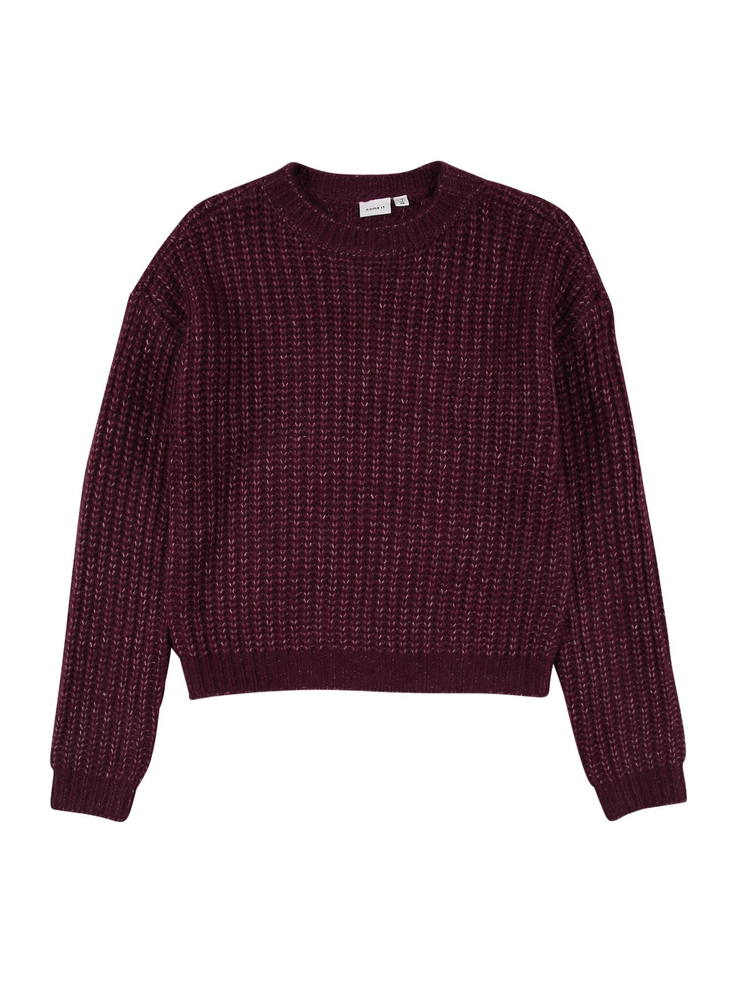 NAME IT Megztinis slyvų spalva