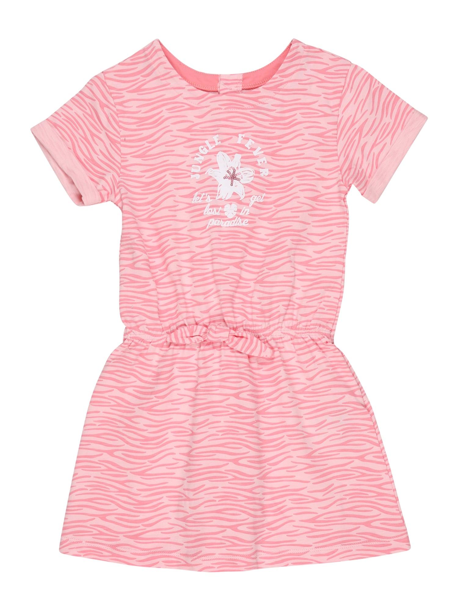 KANZ Suknelė balta / šviesiai rožinė / rožinė
