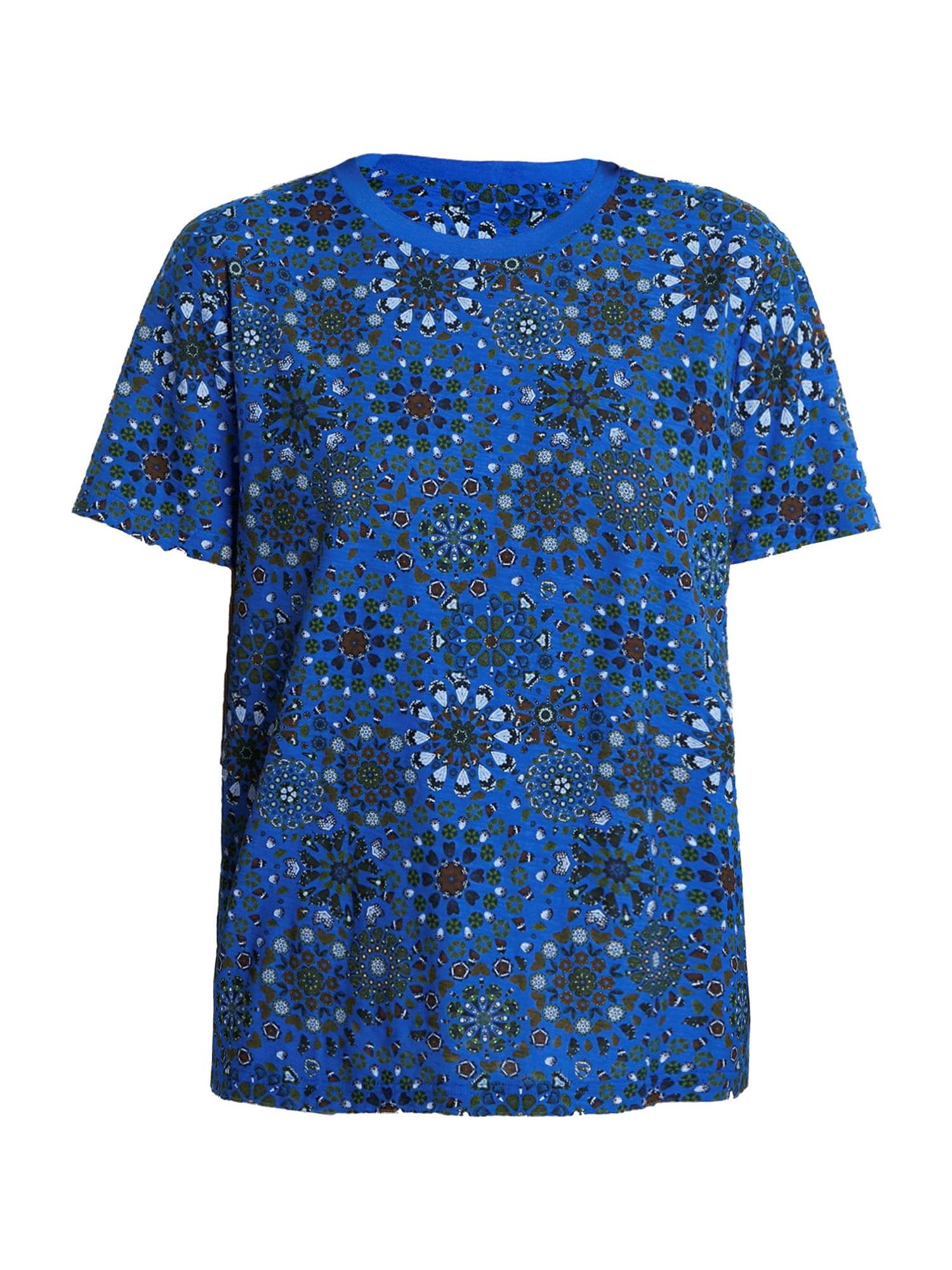 Desigual Tričko 'LYON'  modrá / tmavě hnědá / černá / světlemodrá / trávově zelená