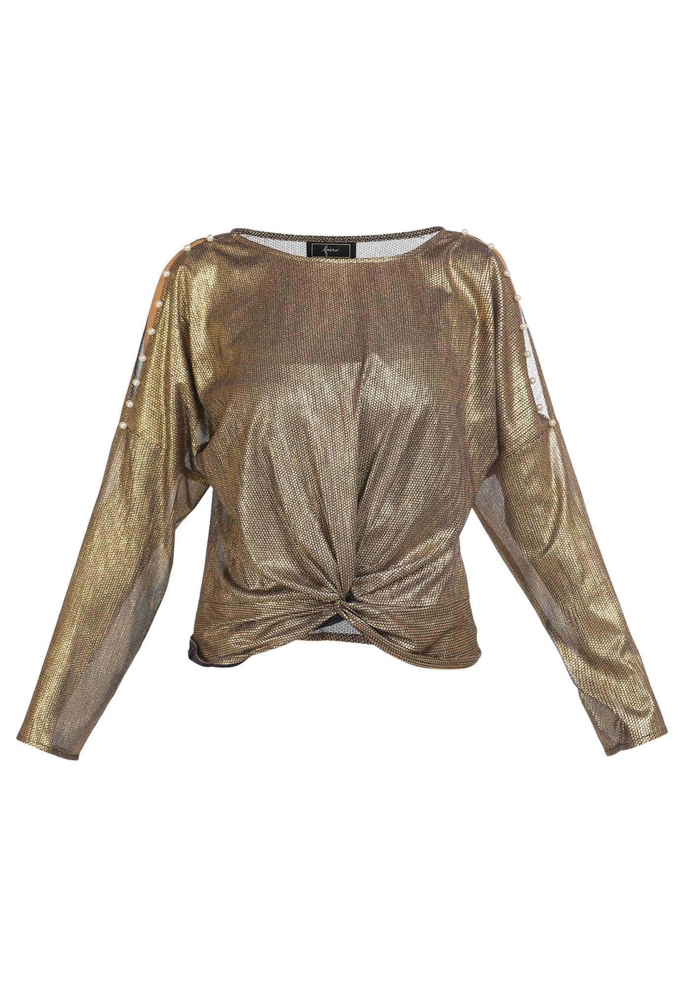 faina Marškinėliai auksas / juoda