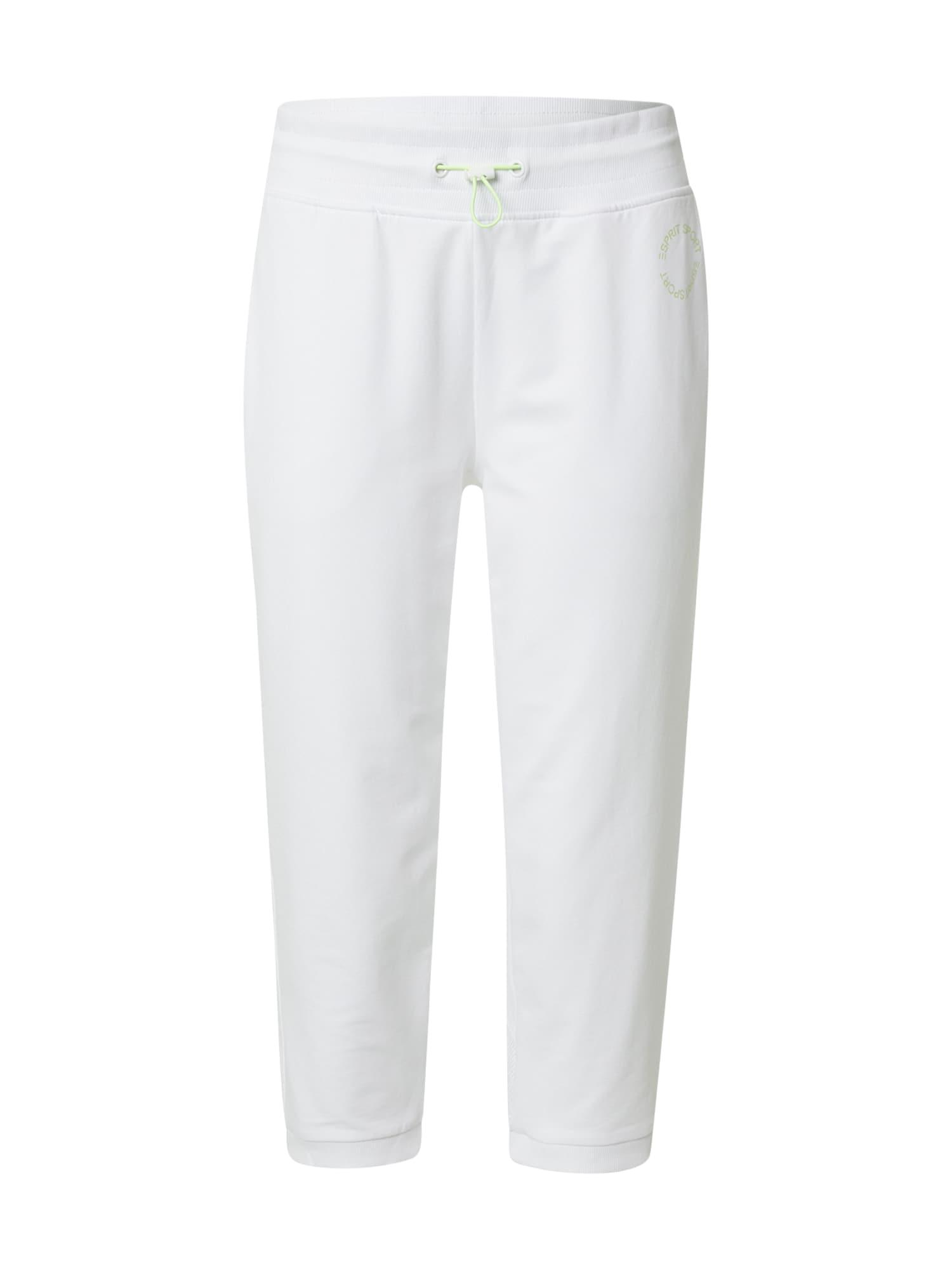 ESPRIT SPORT Sportinės kelnės balta / šviesiai žalia