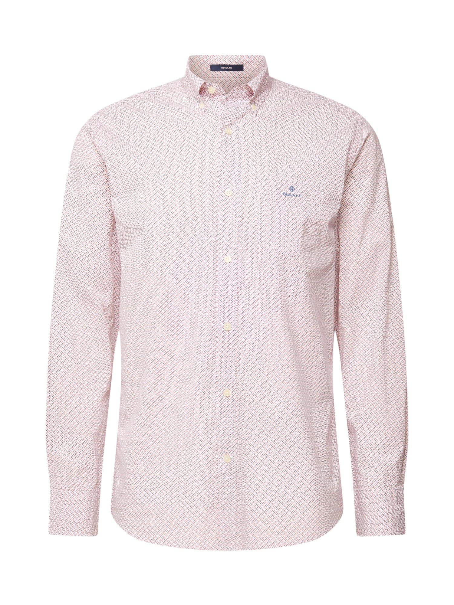 GANT Marškiniai vyšninė spalva / balta / tamsiai mėlyna jūros spalva