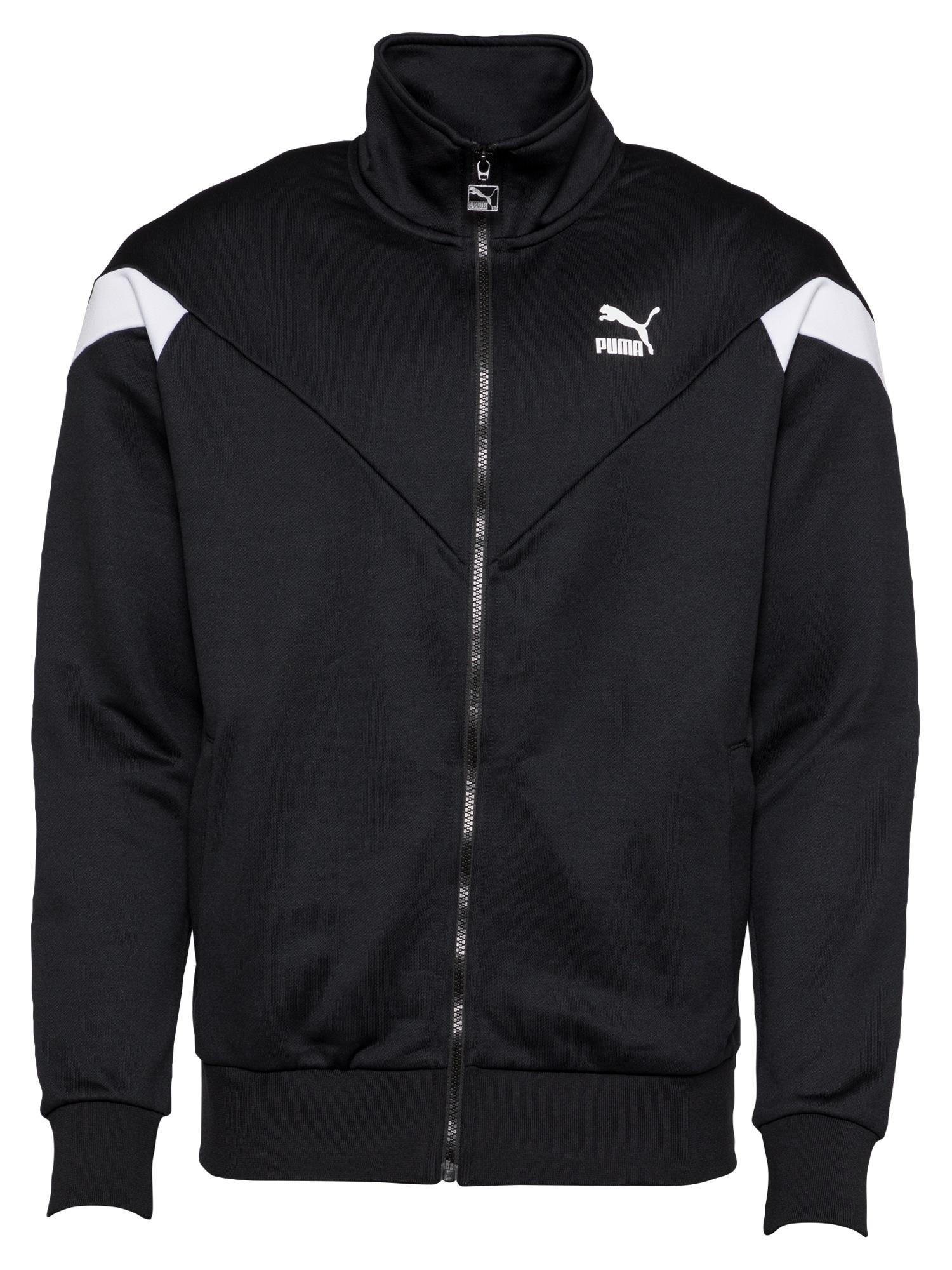 PUMA Džemperis juoda / balta