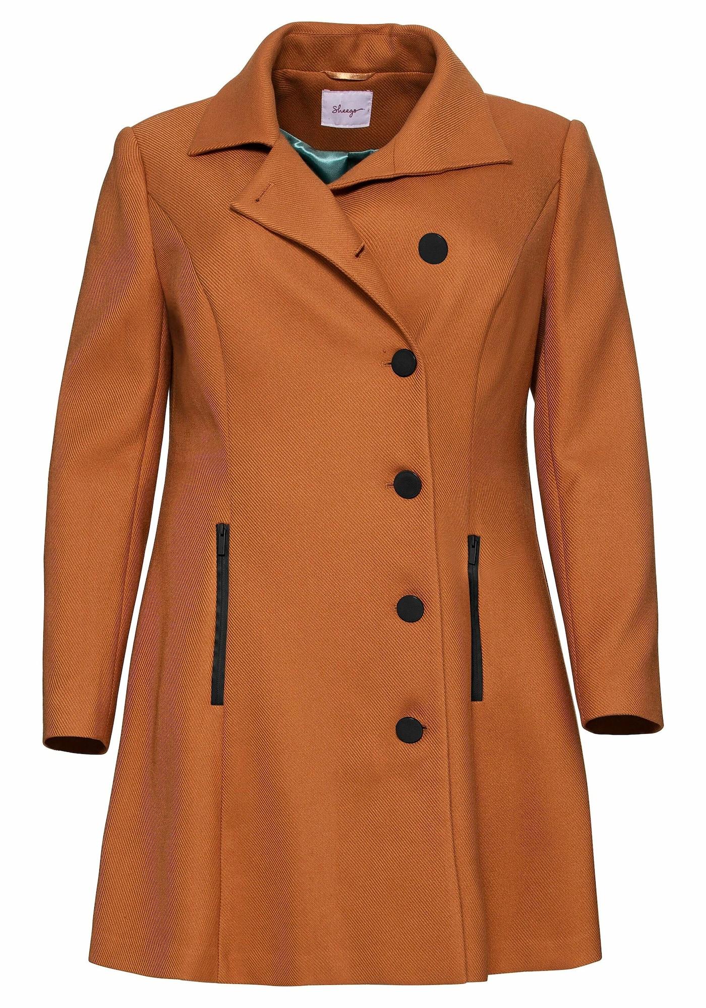 SHEEGO Demisezoninis paltas ruda (konjako)