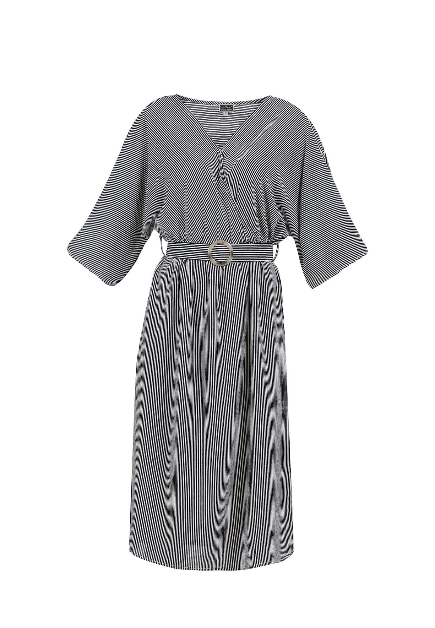 DreiMaster Maritim Vasarinė suknelė tamsiai mėlyna jūros spalva / balta