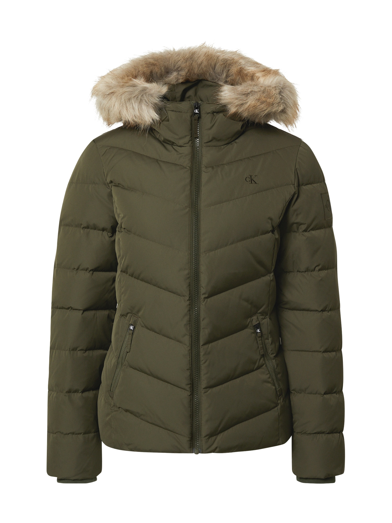 Calvin Klein Jeans Zimní bunda  khaki