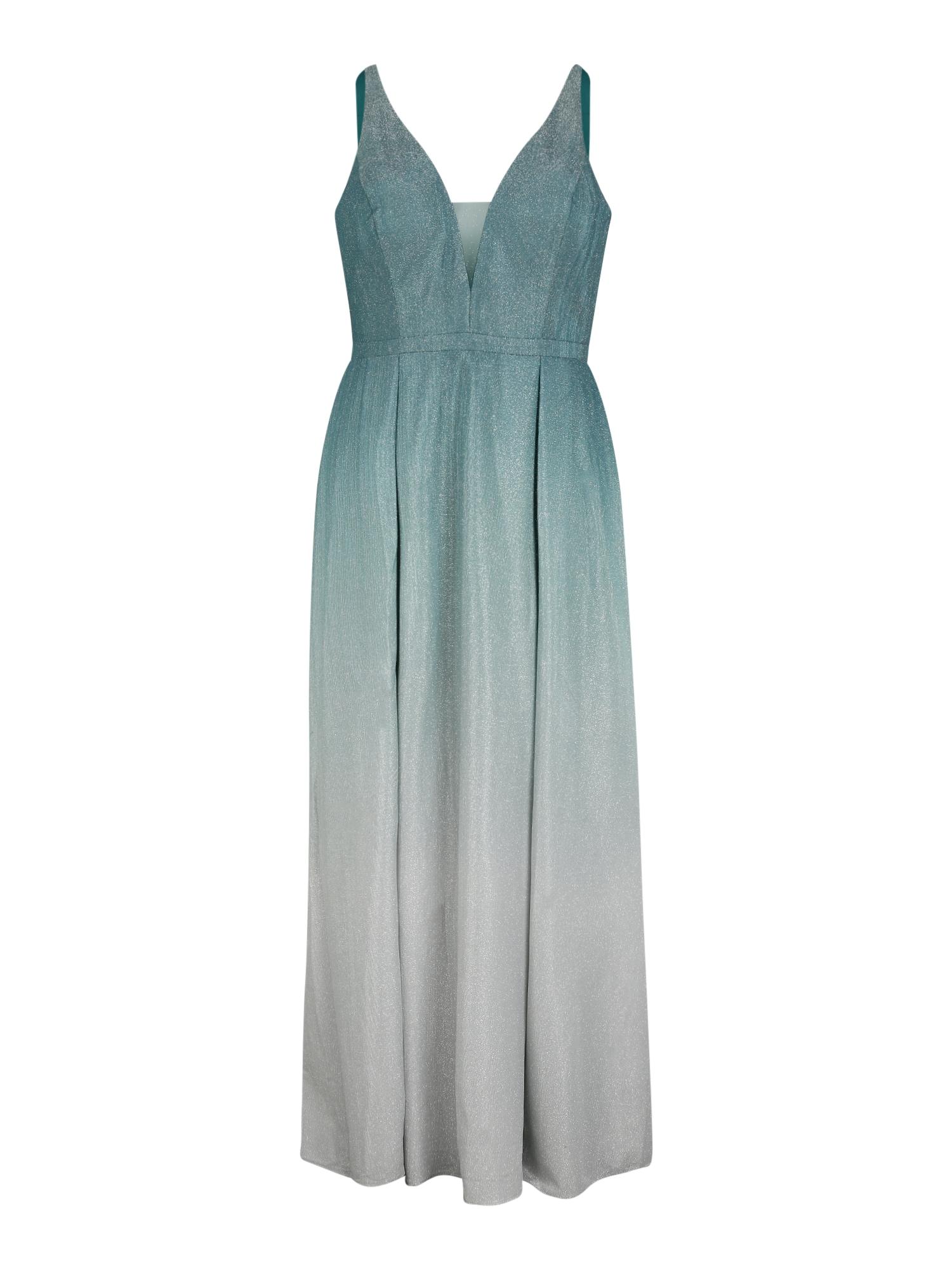 My Mascara Curves Vakarinė suknelė tamsiai žalia / sidabrinė / šviesiai pilka