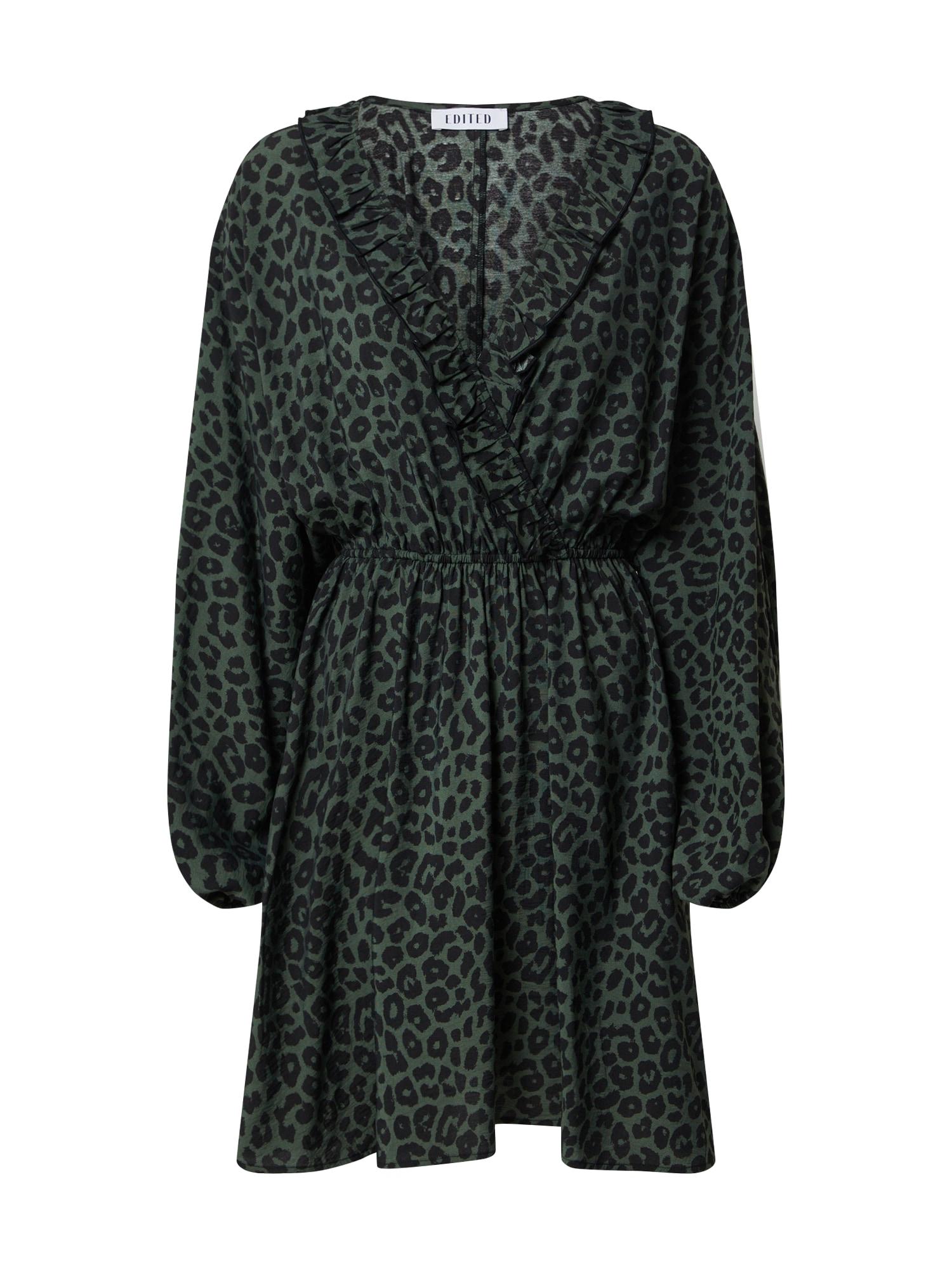 EDITED Suknelė 'Katinka' tamsiai žalia / juoda