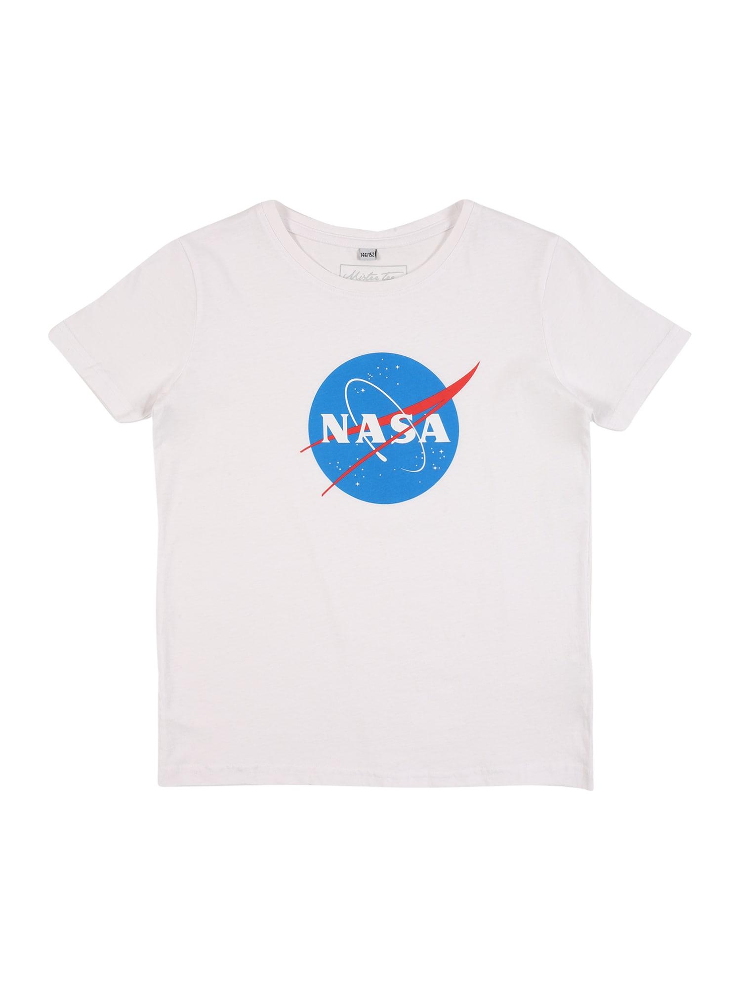 Mister Tee Tričko 'NASA Insignia '  bílá / modrá / červená