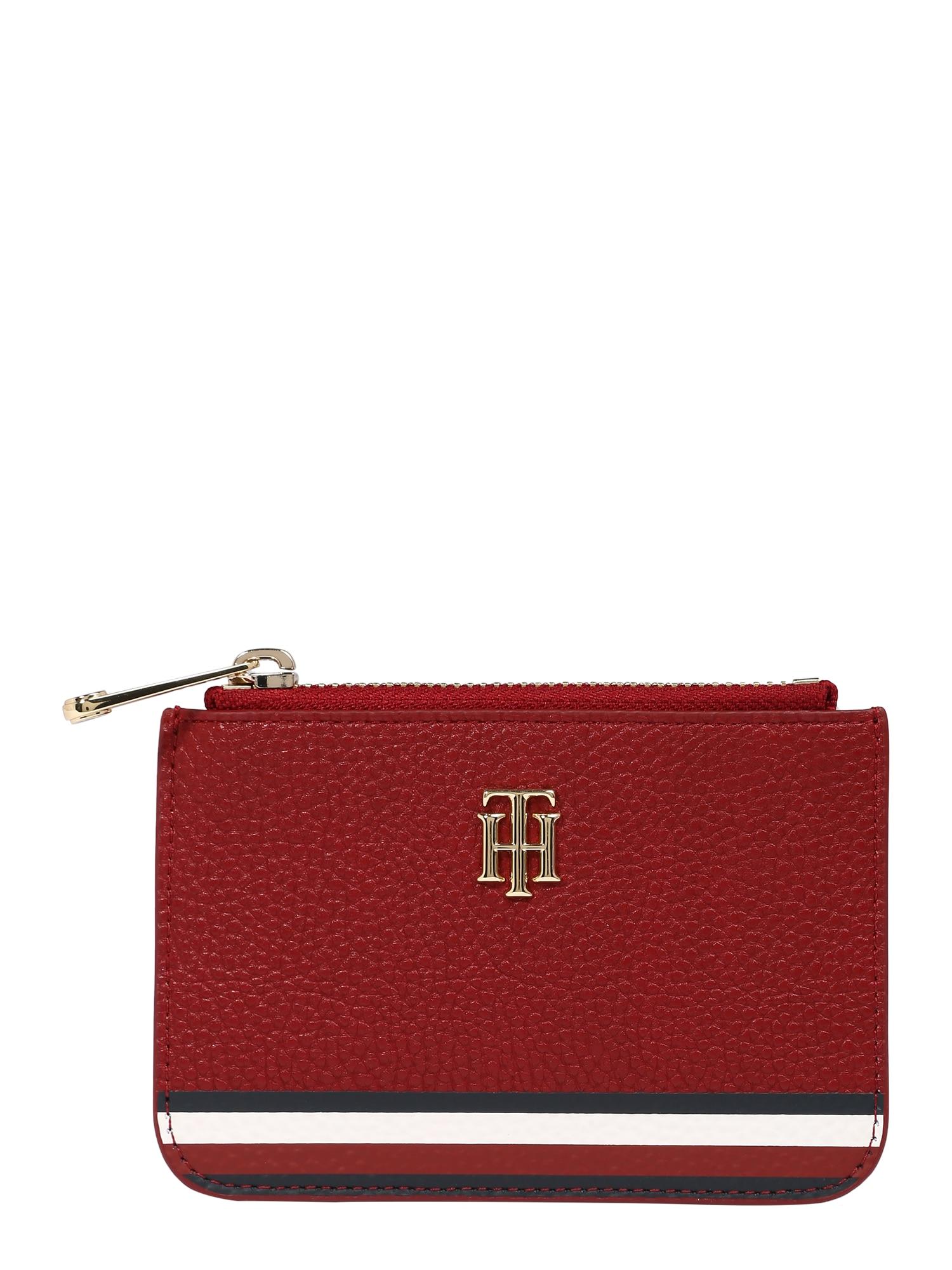 TOMMY HILFIGER Peněženka  bílá / modrá / zlatá / karmínově červené