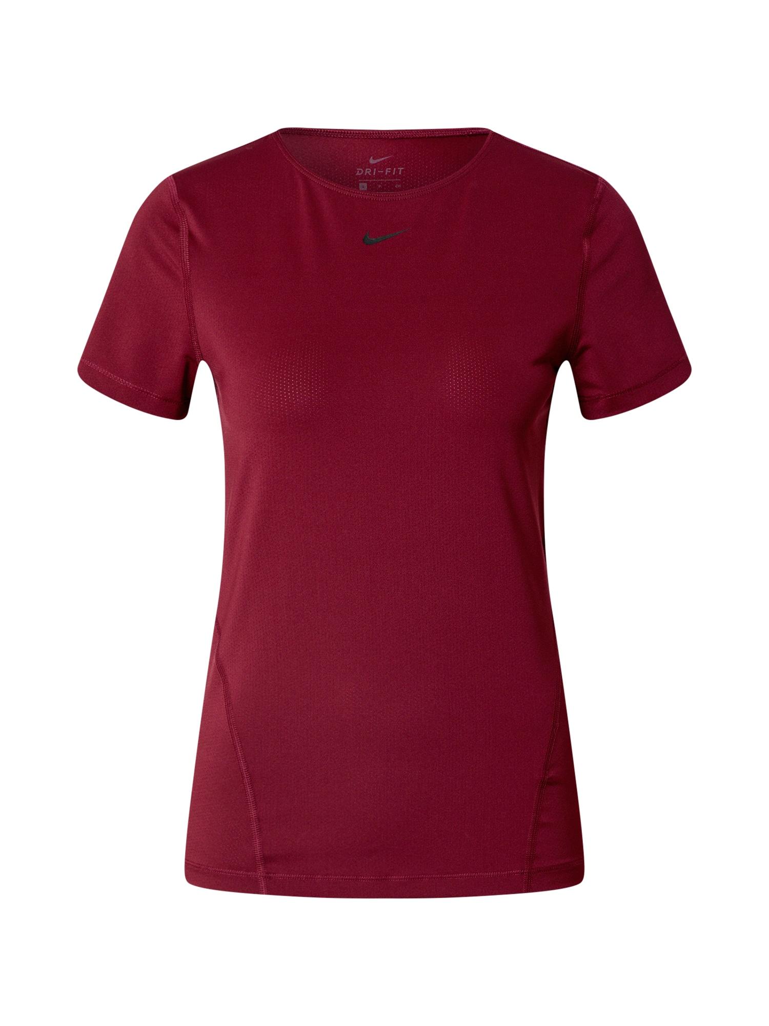 NIKE Funkční tričko  černá / tmavě červená