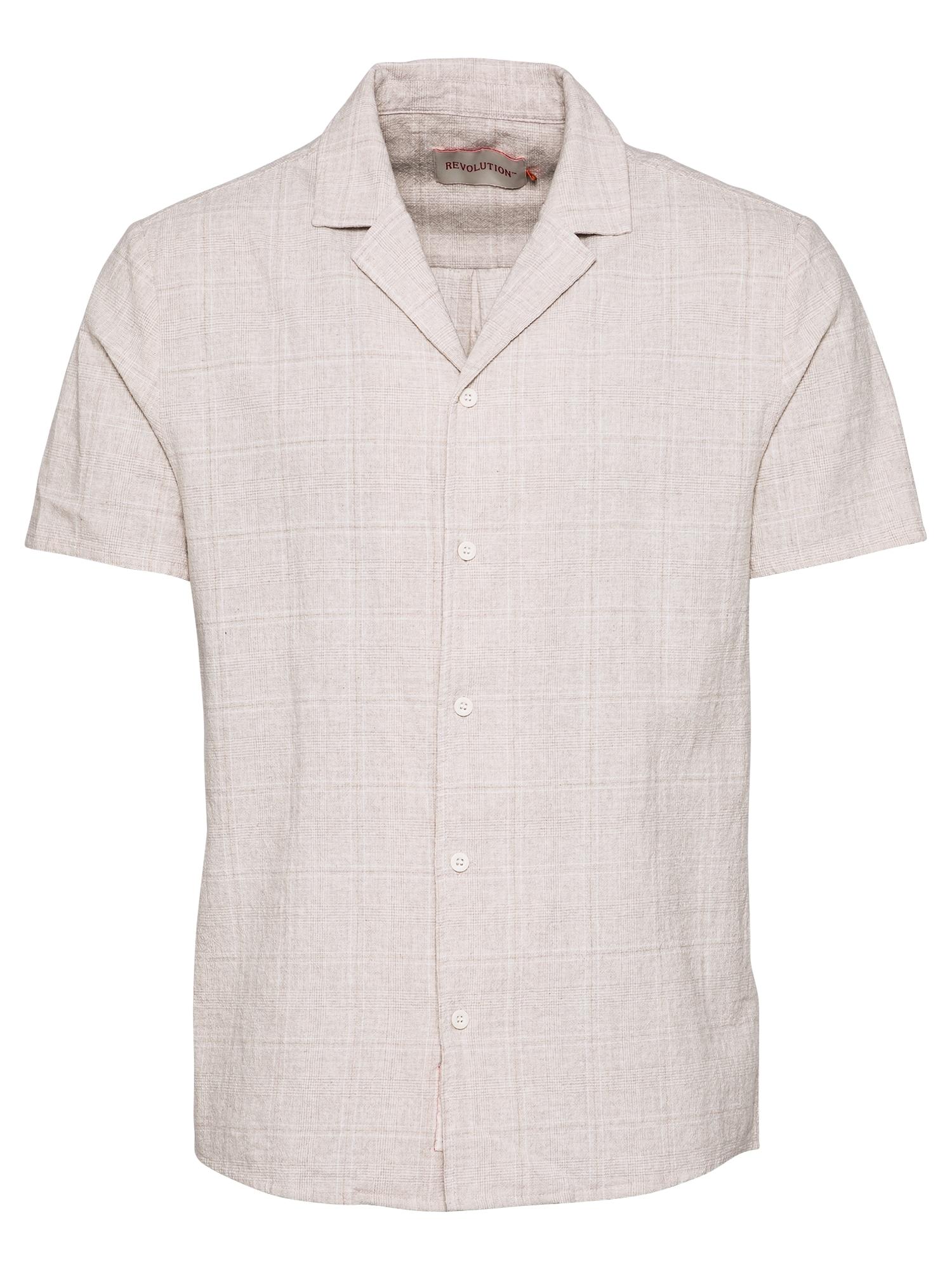 Revolution Marškiniai balkšva / smėlio spalva
