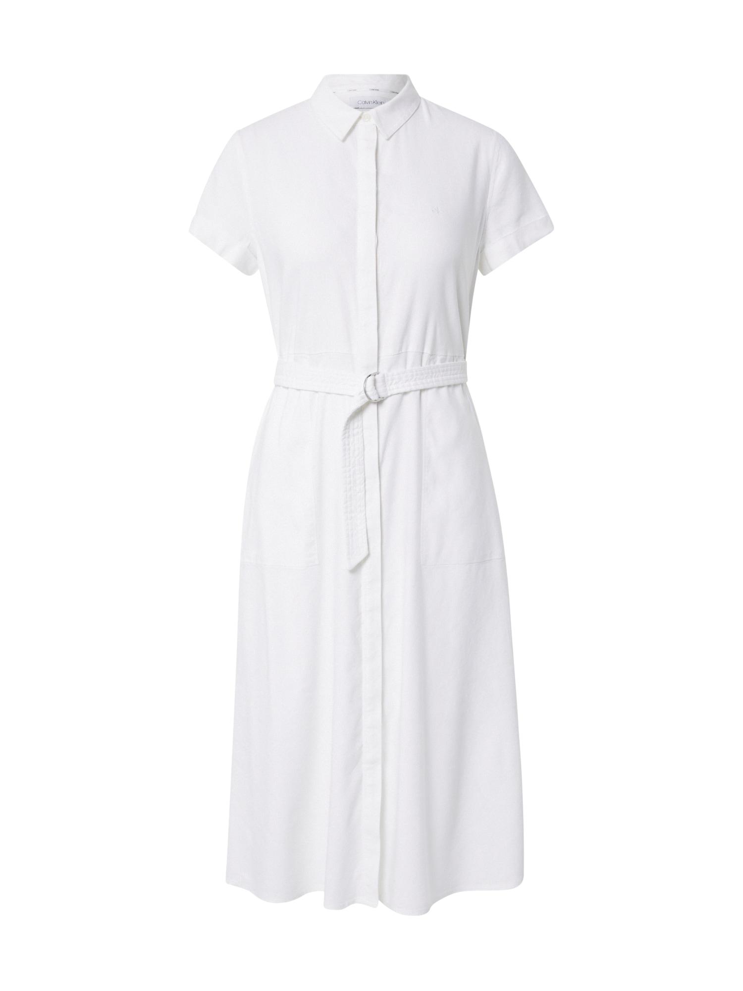 Calvin Klein Palaidinės tipo suknelė balta