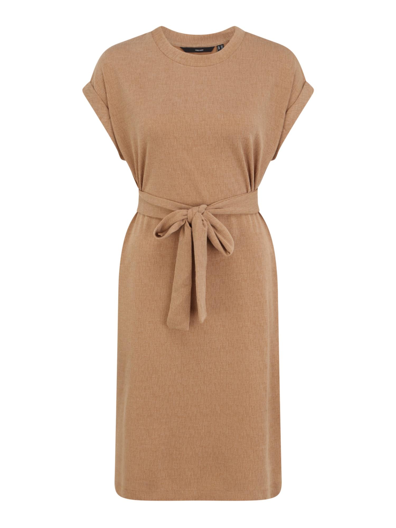 Vero Moda Tall Šaty 'KIARA'  světle hnědá / starobéžová