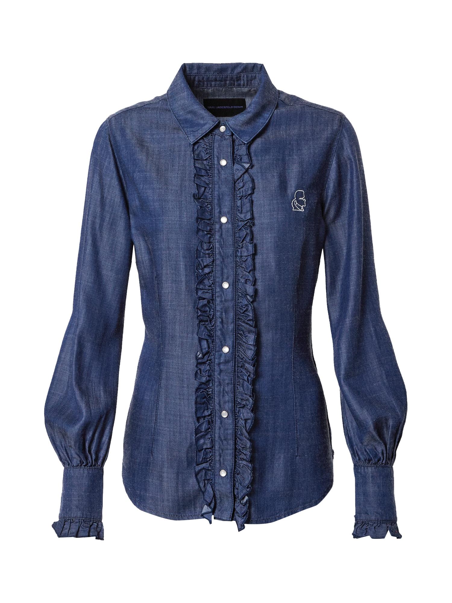 Karl Lagerfeld Denim Palaidinė tamsiai (džinso) mėlyna
