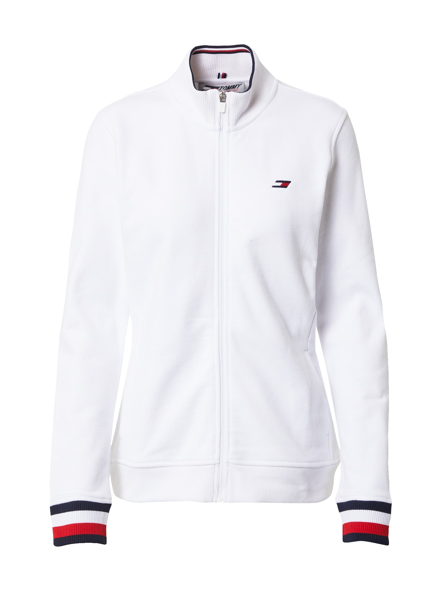 Tommy Sport Sportinis džemperis balta / tamsiai mėlyna / raudona