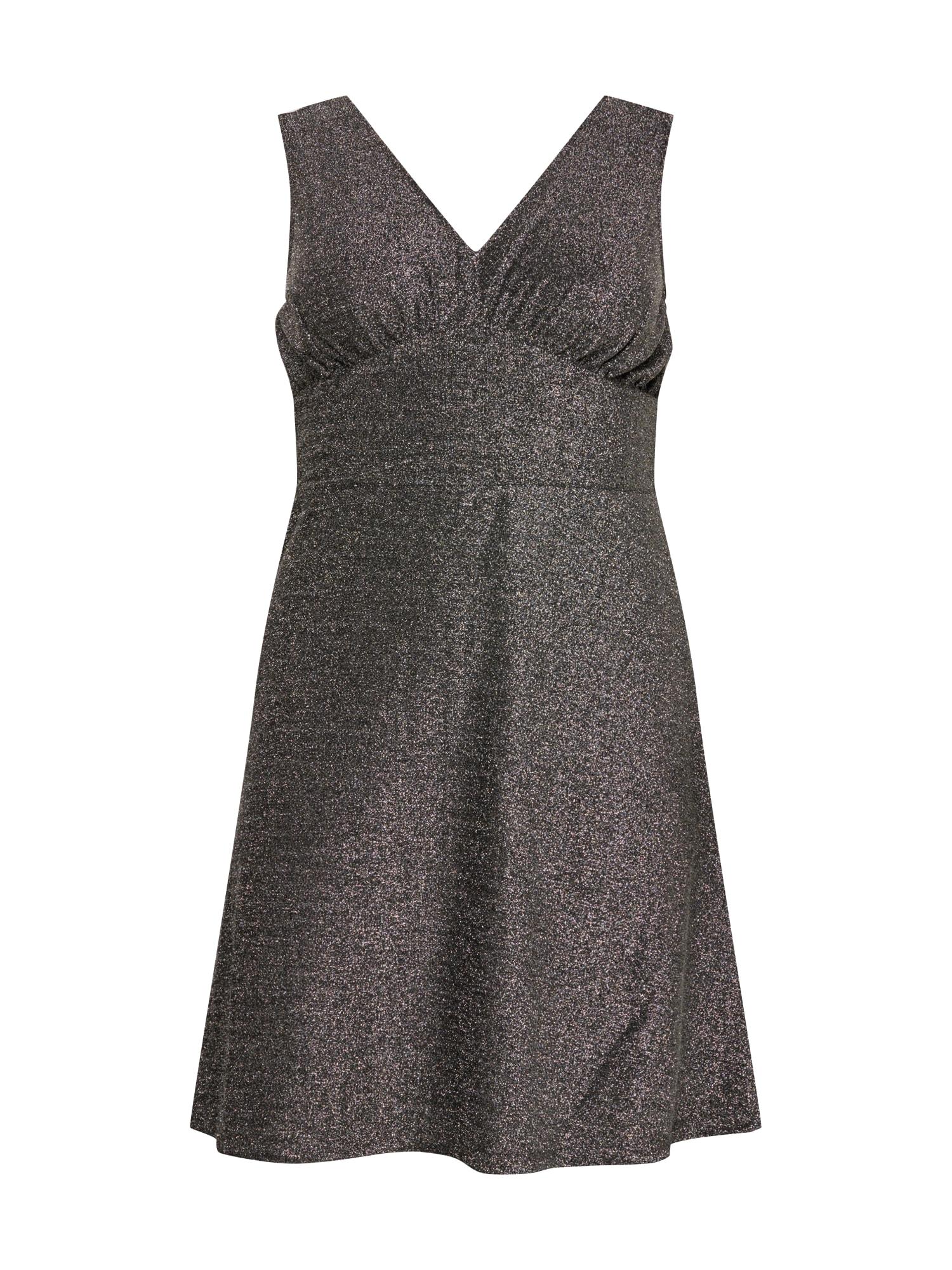 Vero Moda Curve Šaty  stříbrná