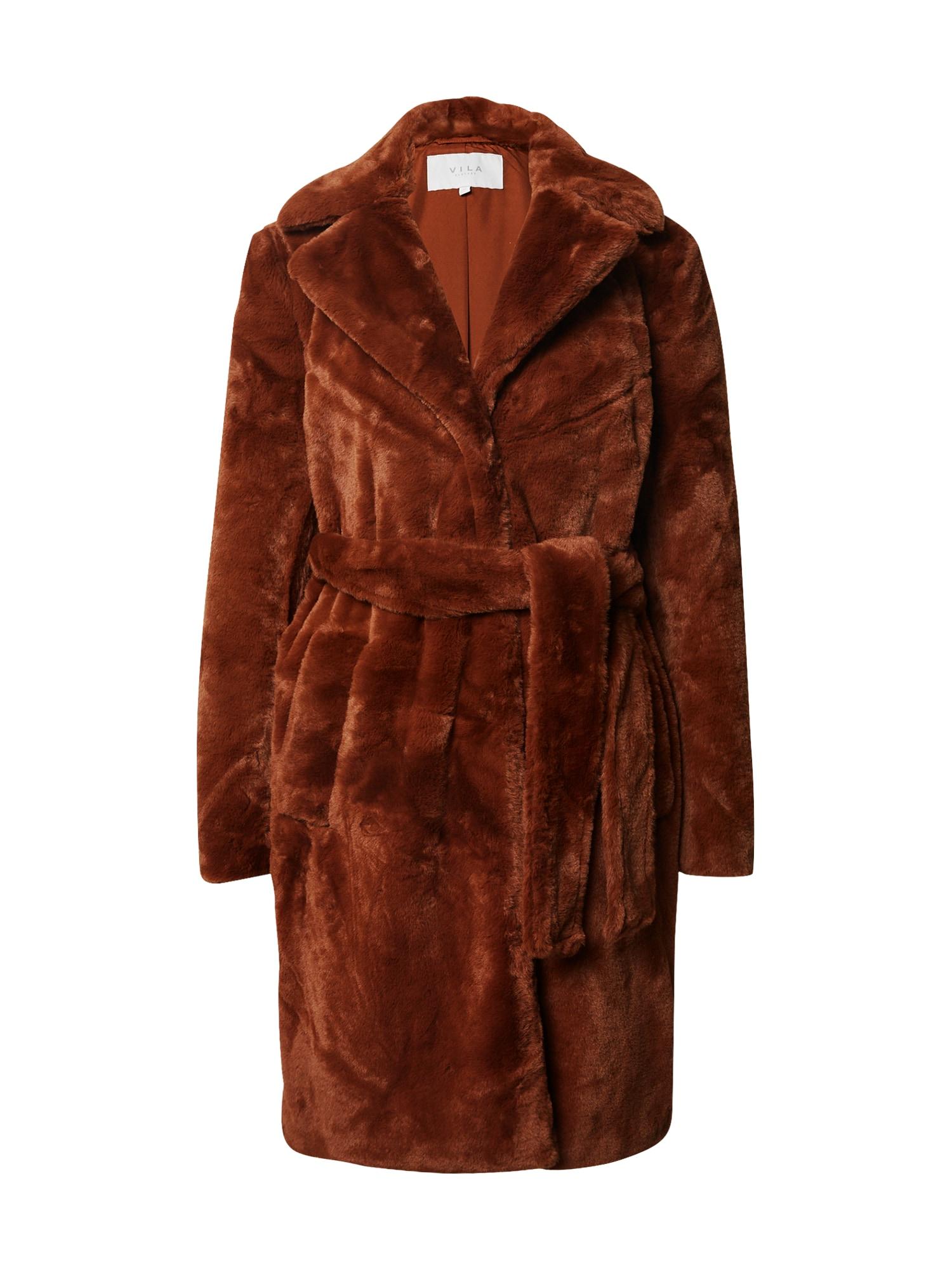VILA Zimní kabát  hnědá