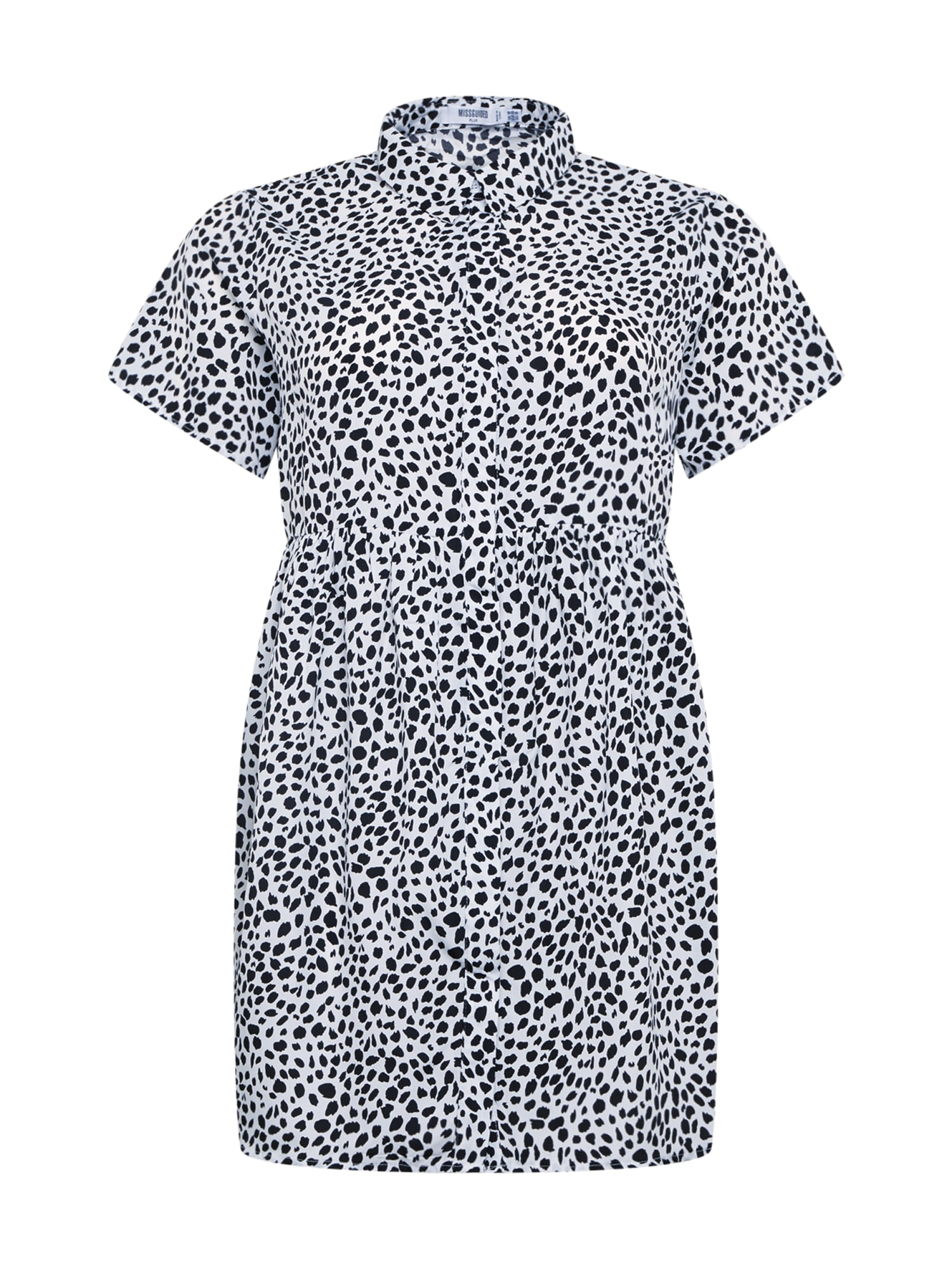 Missguided Plus Košilové šaty  bílá / černá